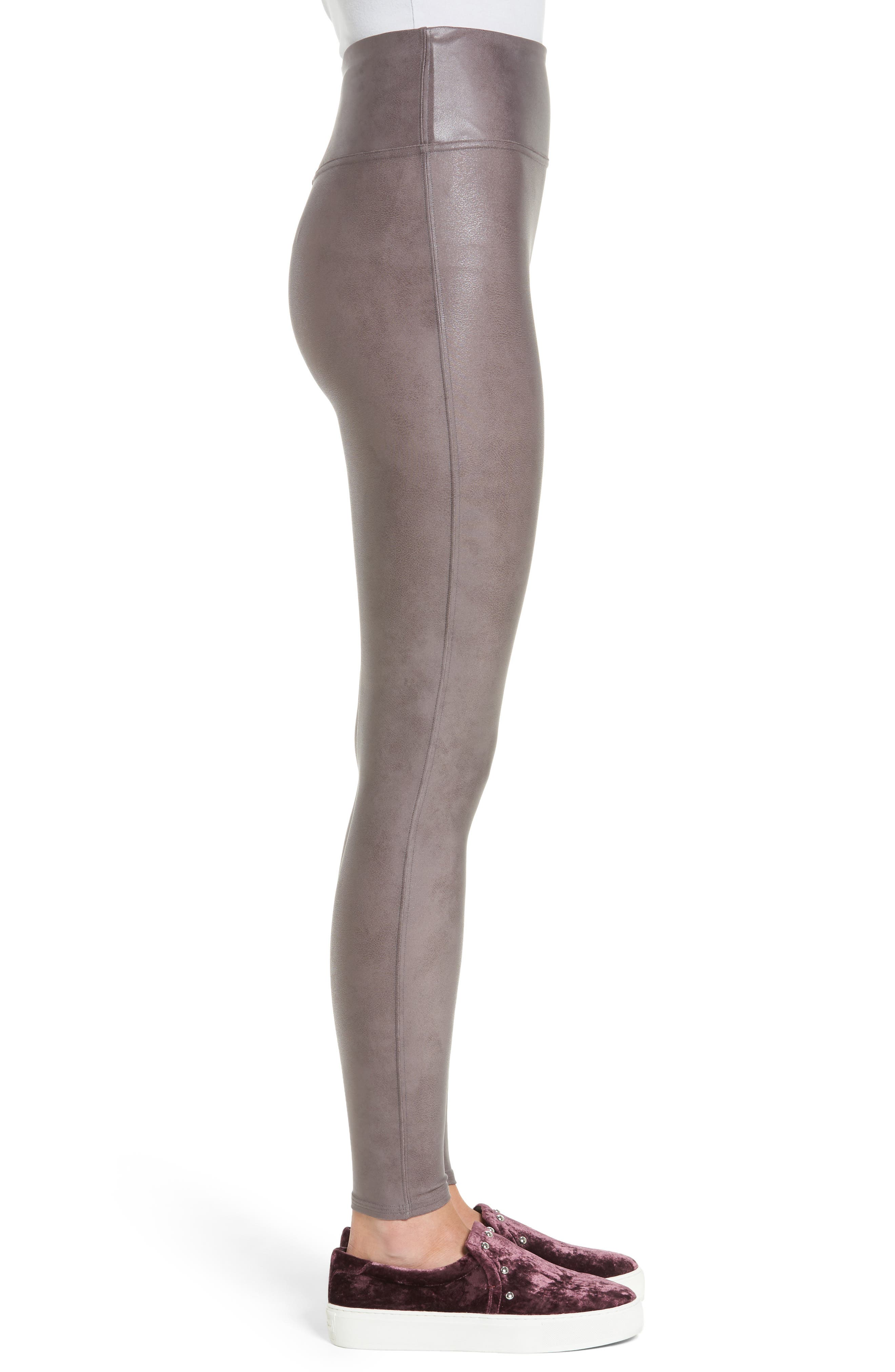 Alternate Image 3  - SPANX® Faux Leather Leggings