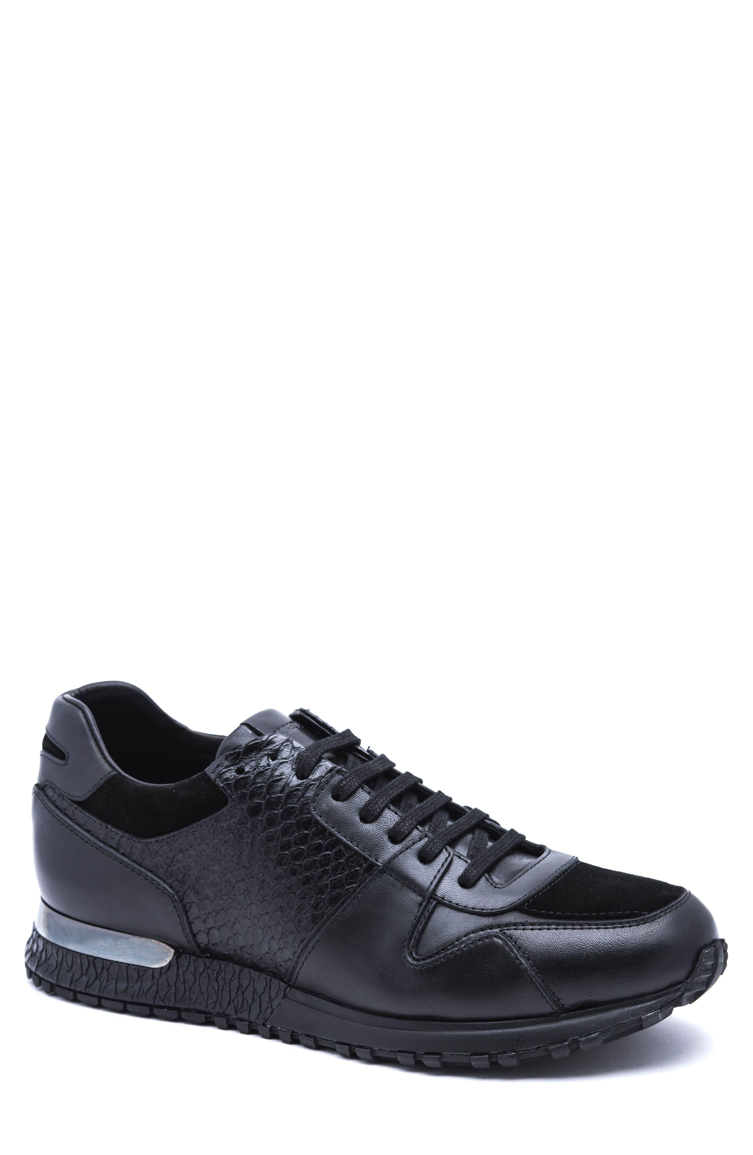 Textured Sneaker,                             Main thumbnail 1, color,                             Black