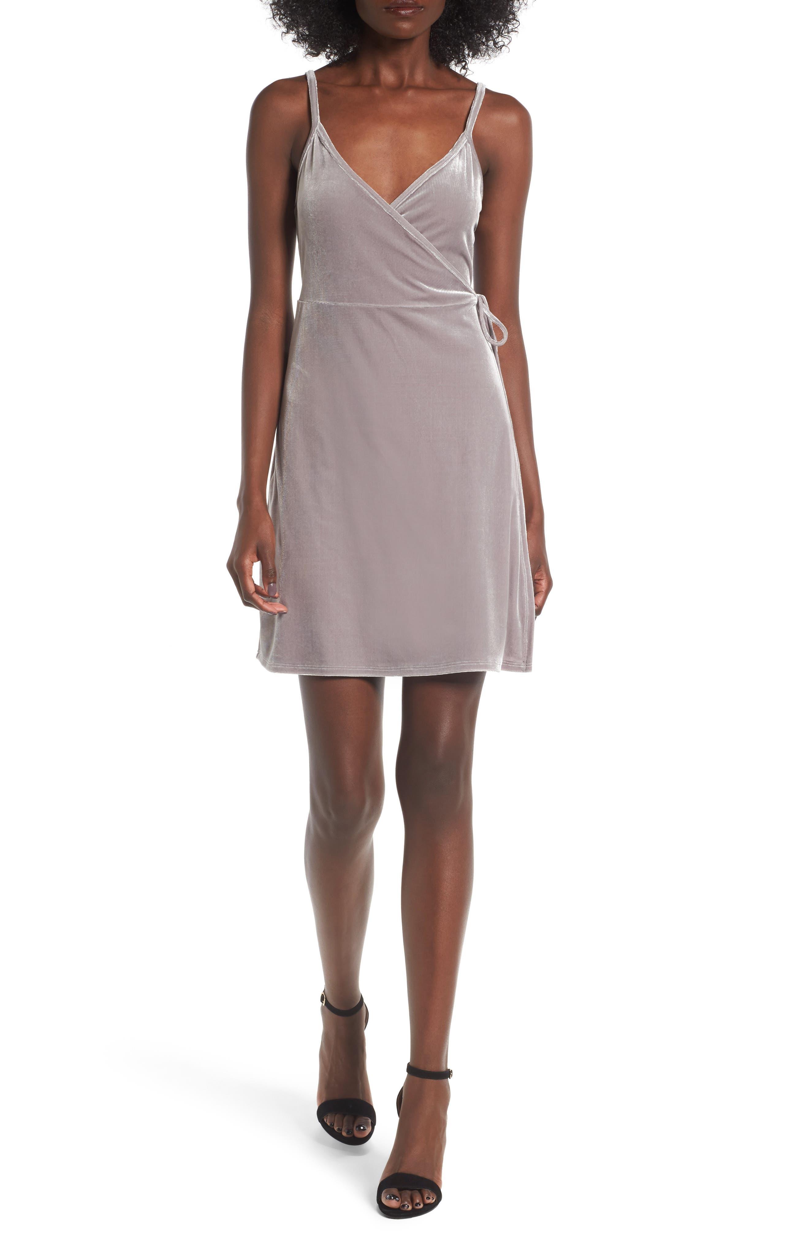BP. Velvet Wrap Dress