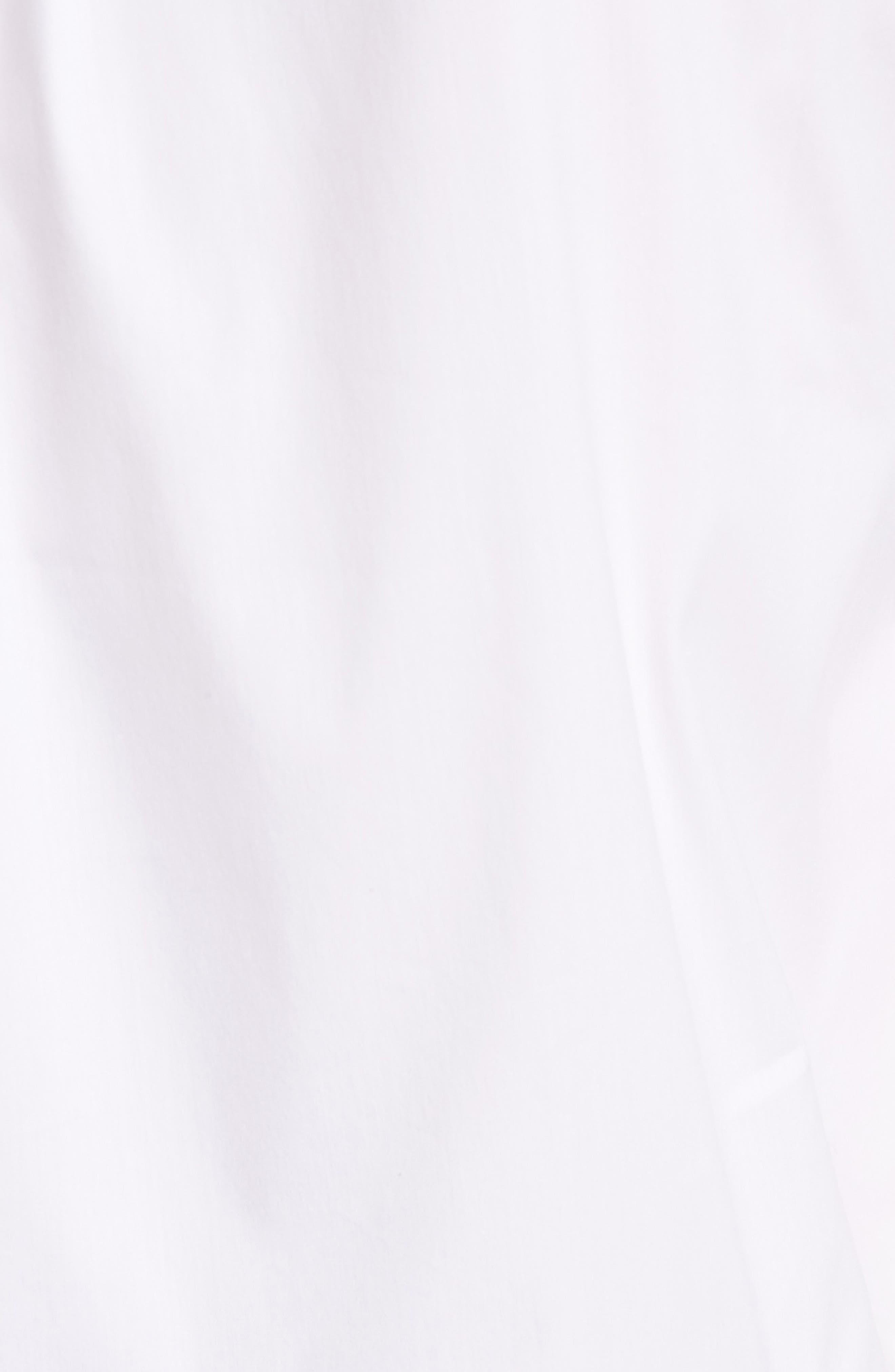 Cross Dye Feather Hem Top,                             Alternate thumbnail 5, color,                             White