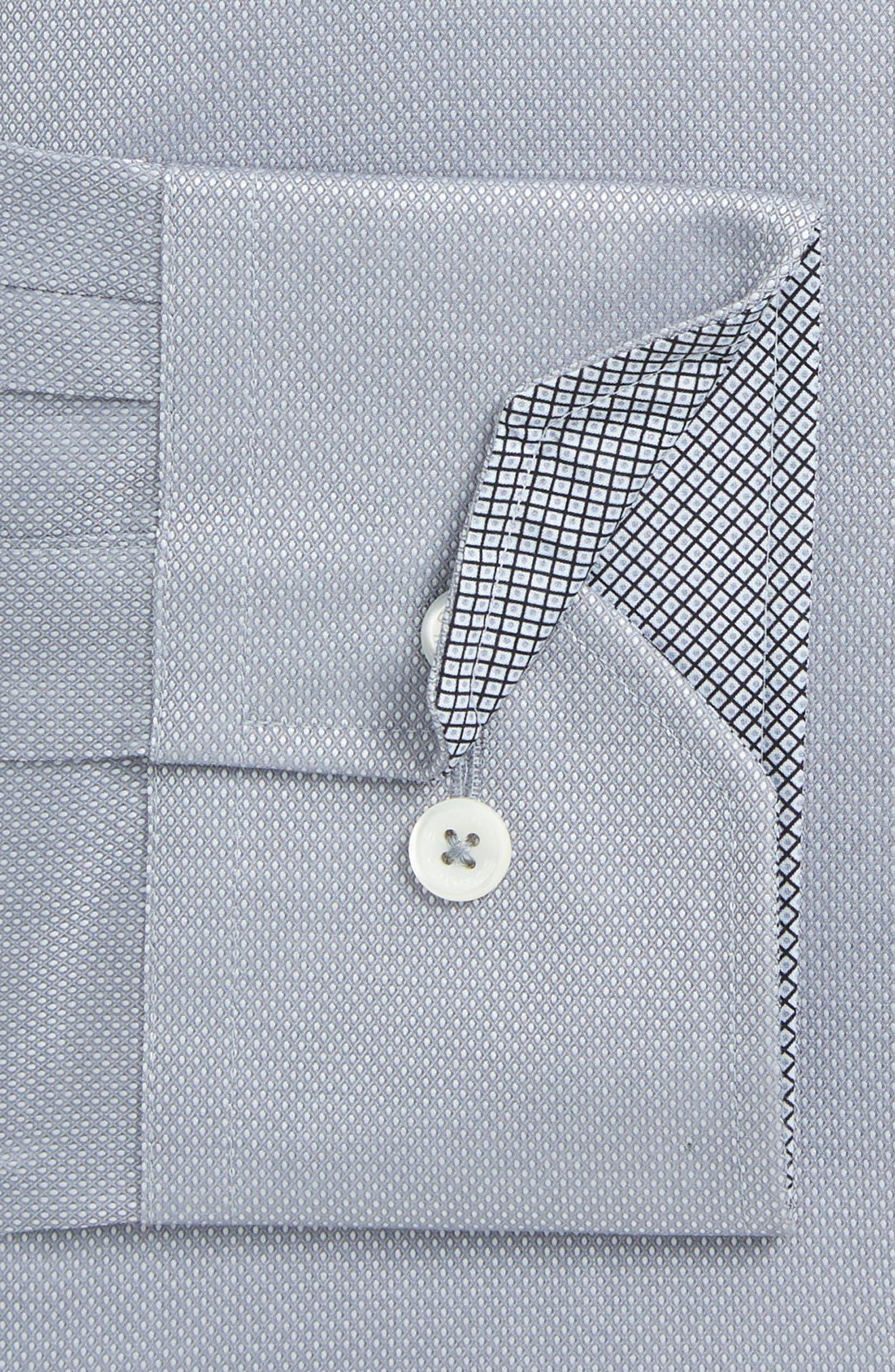 Trim Fit Solid Dress Shirt,                             Alternate thumbnail 2, color,                             Platinum