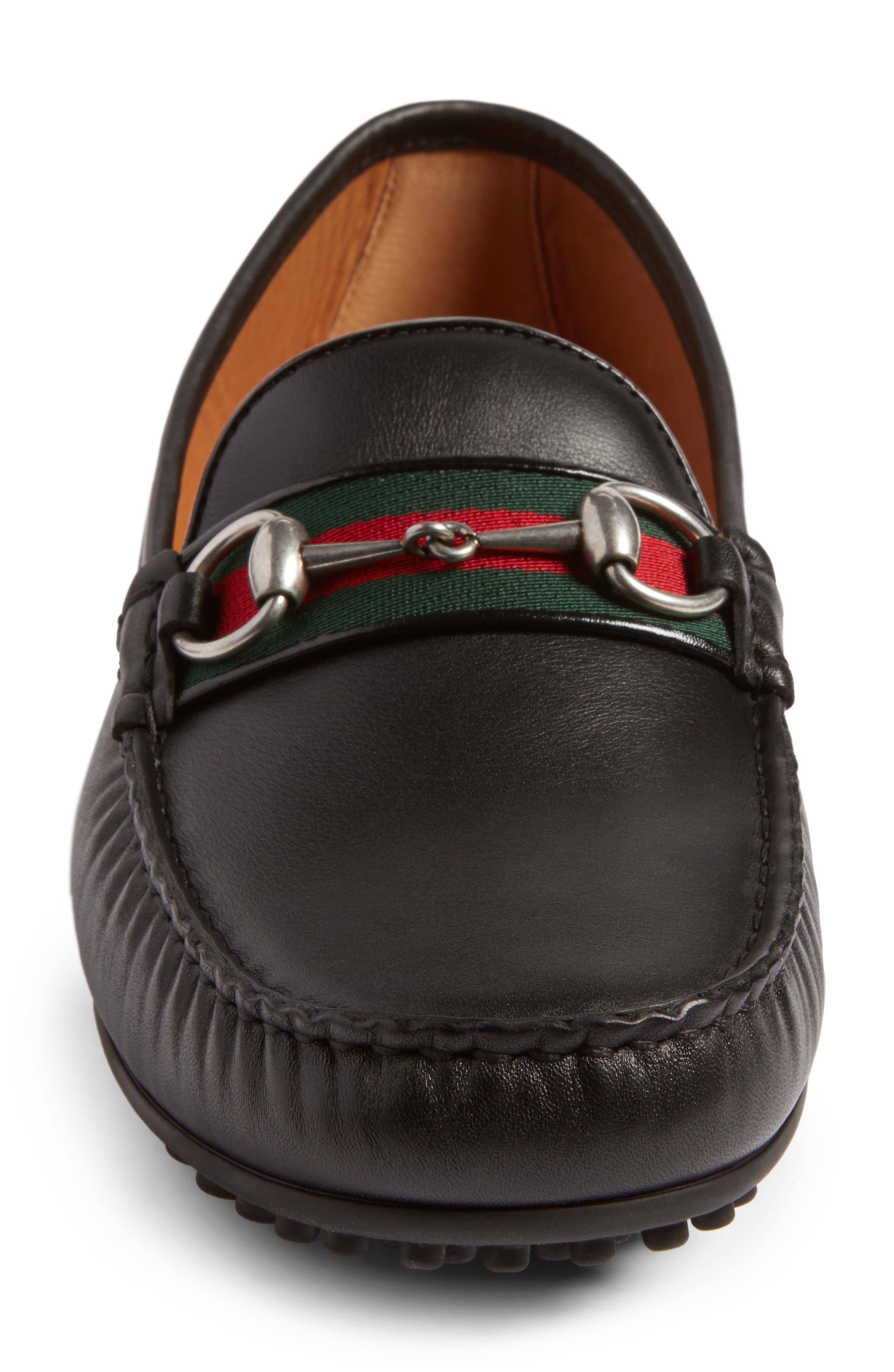 Kanye Bit Loafer,                             Alternate thumbnail 4, color,                             Nero Leather