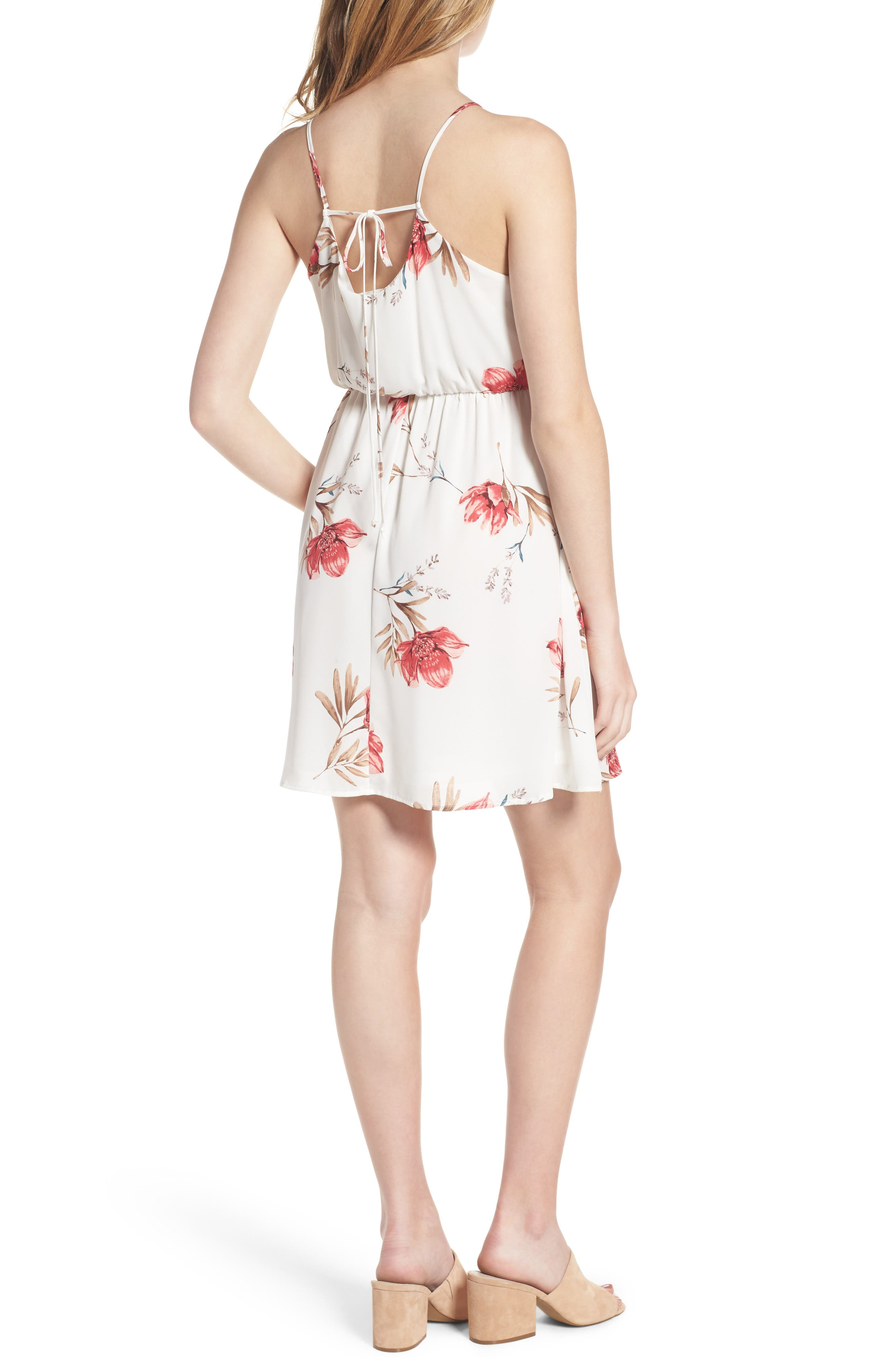 Alternate Image 2  - Back Tie Blouson Dress