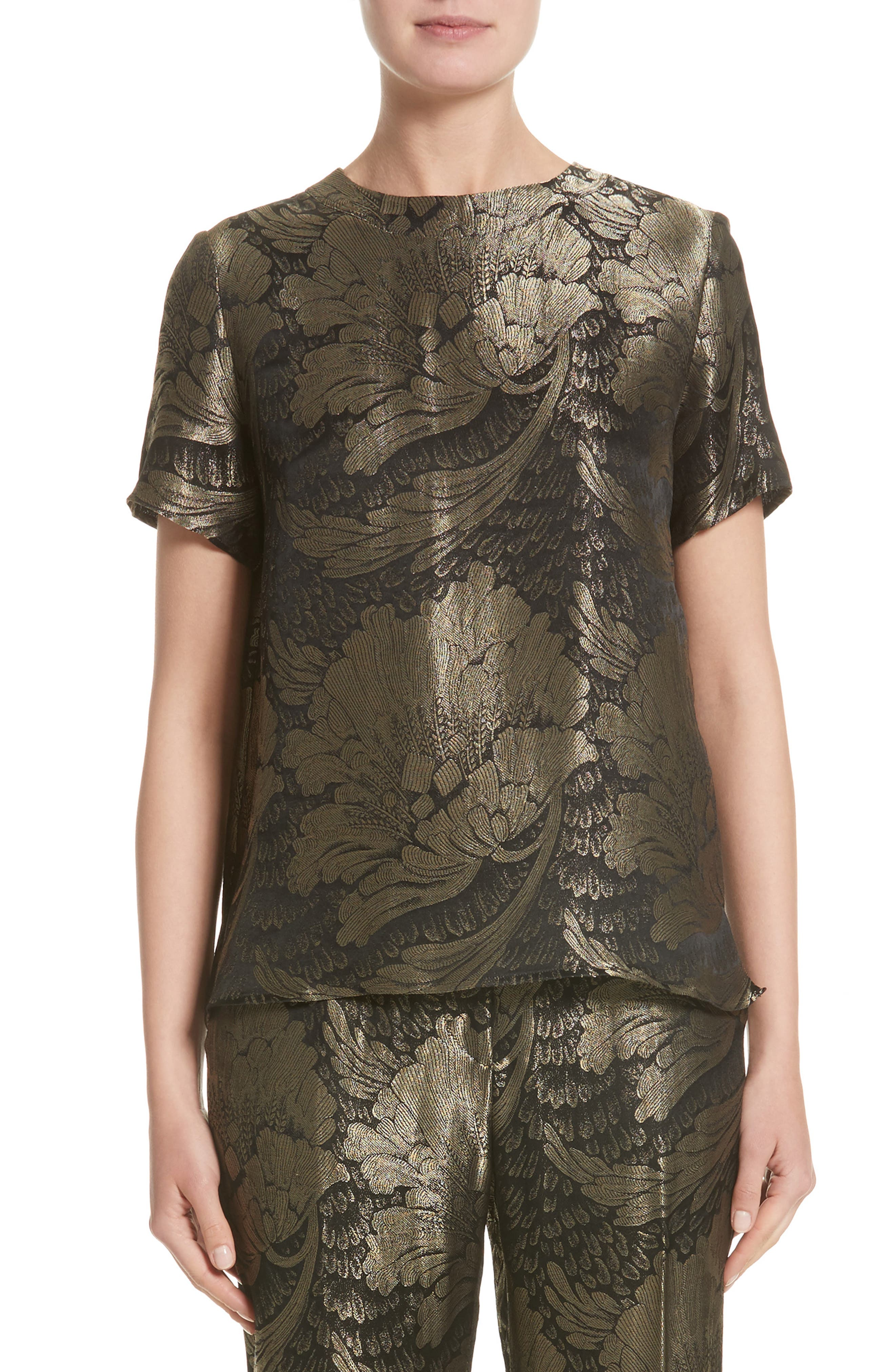 Etro Metallic Silk Blend Top