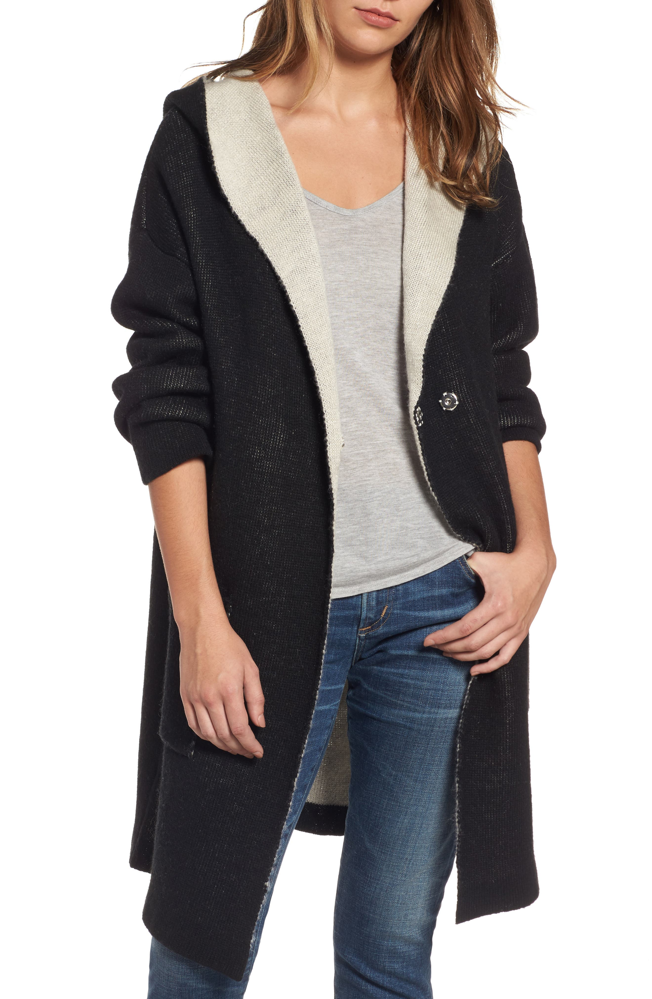 Chill Pill Cardigan,                         Main,                         color, Bamboo Diet