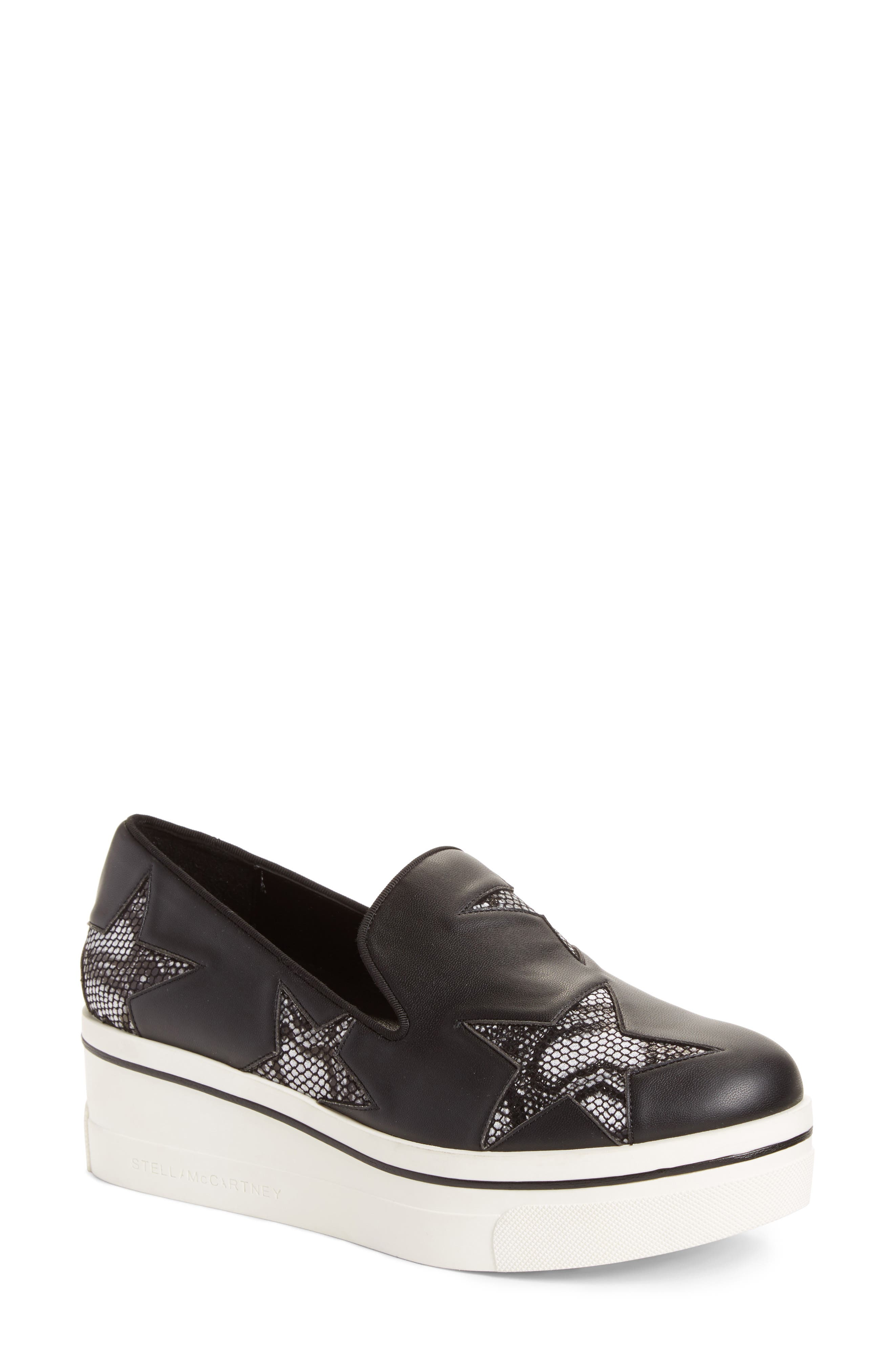 Alternate Image 1 Selected - Stella McCartney Binx Stars Platform Sneaker (Women)