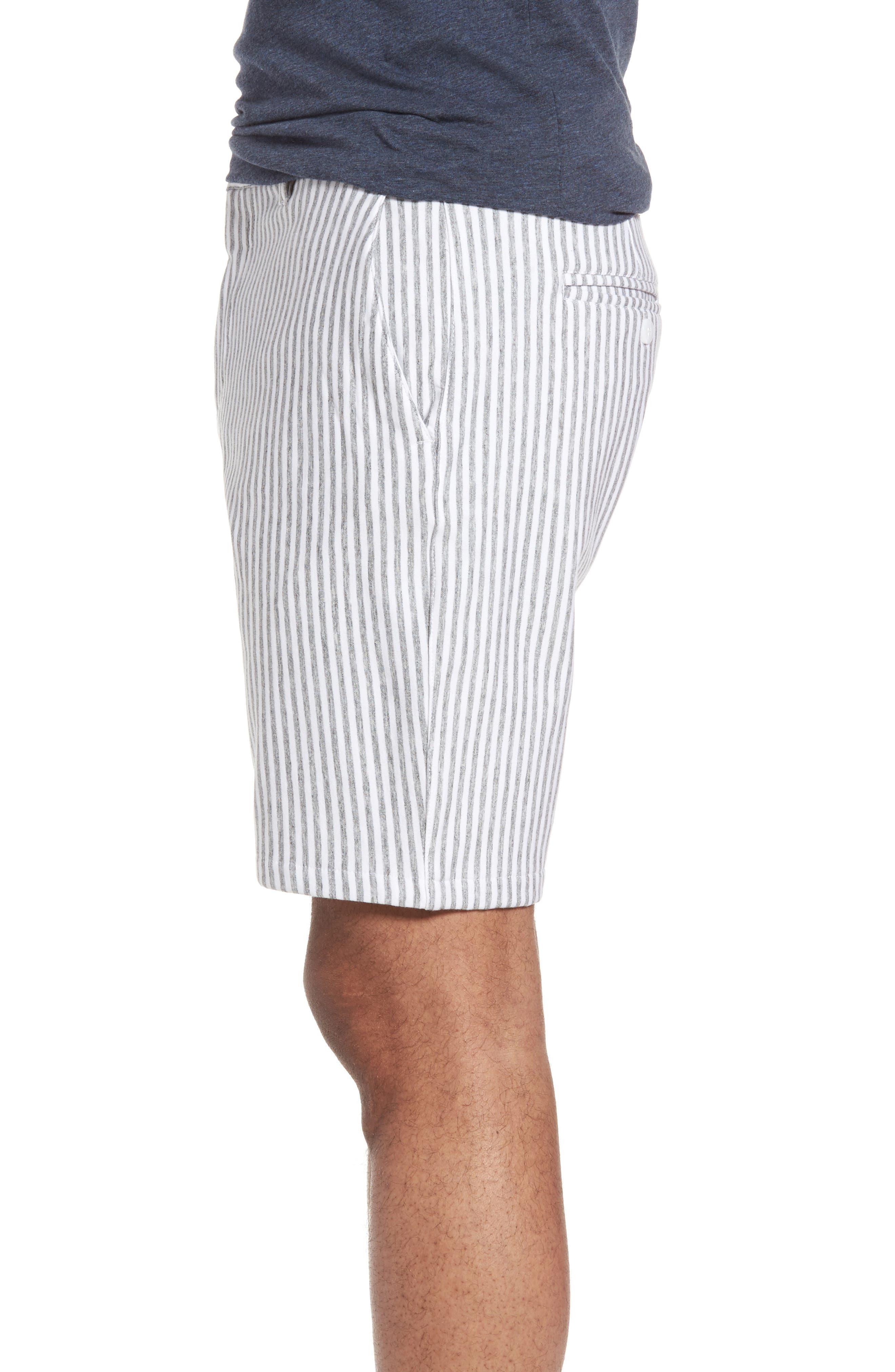 Alternate Image 3  - Slate & Stone Stripe French Terry Shorts