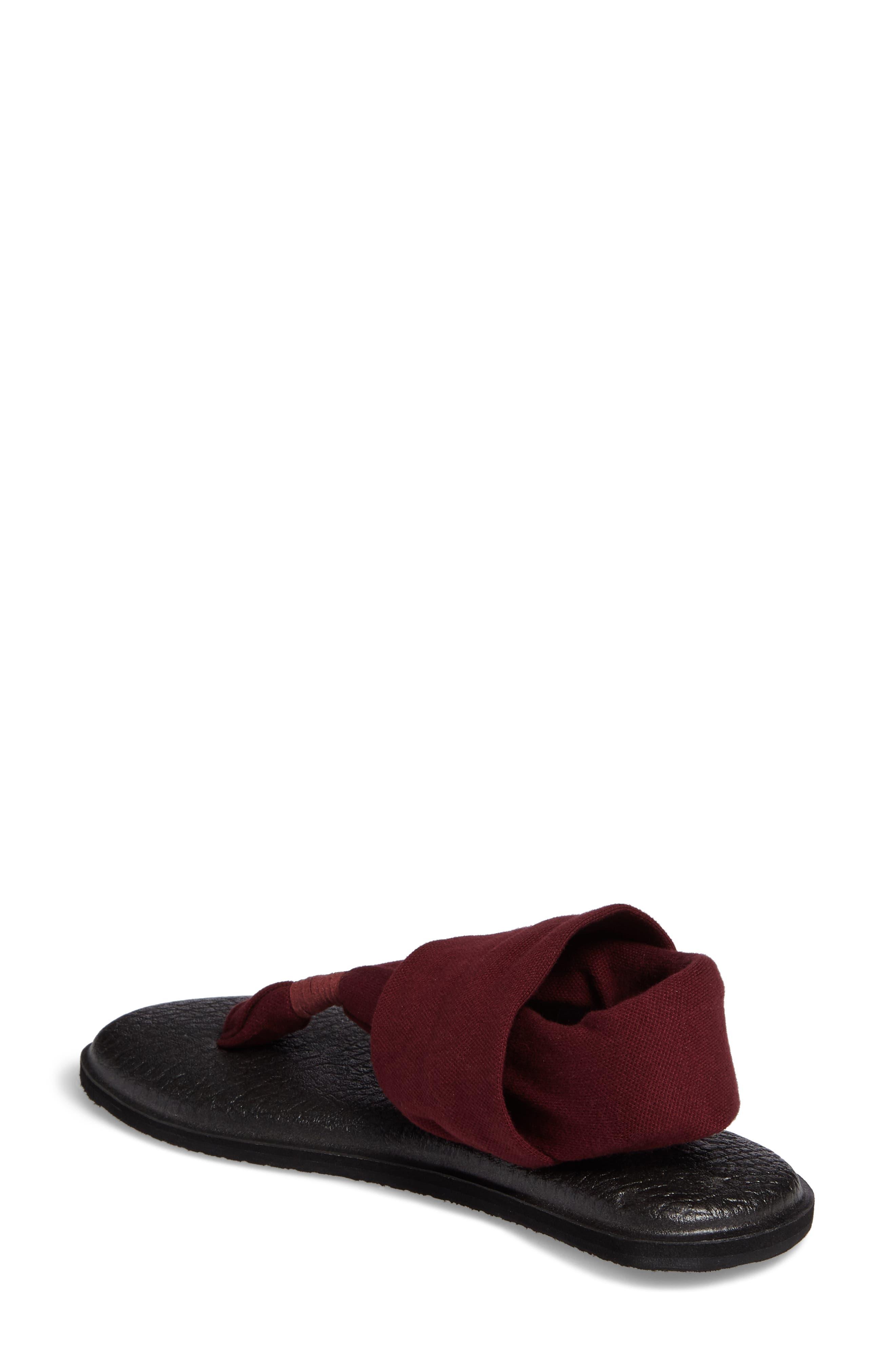 'Yoga Sling 2' Sandal,                             Alternate thumbnail 2, color,                             Burgundy