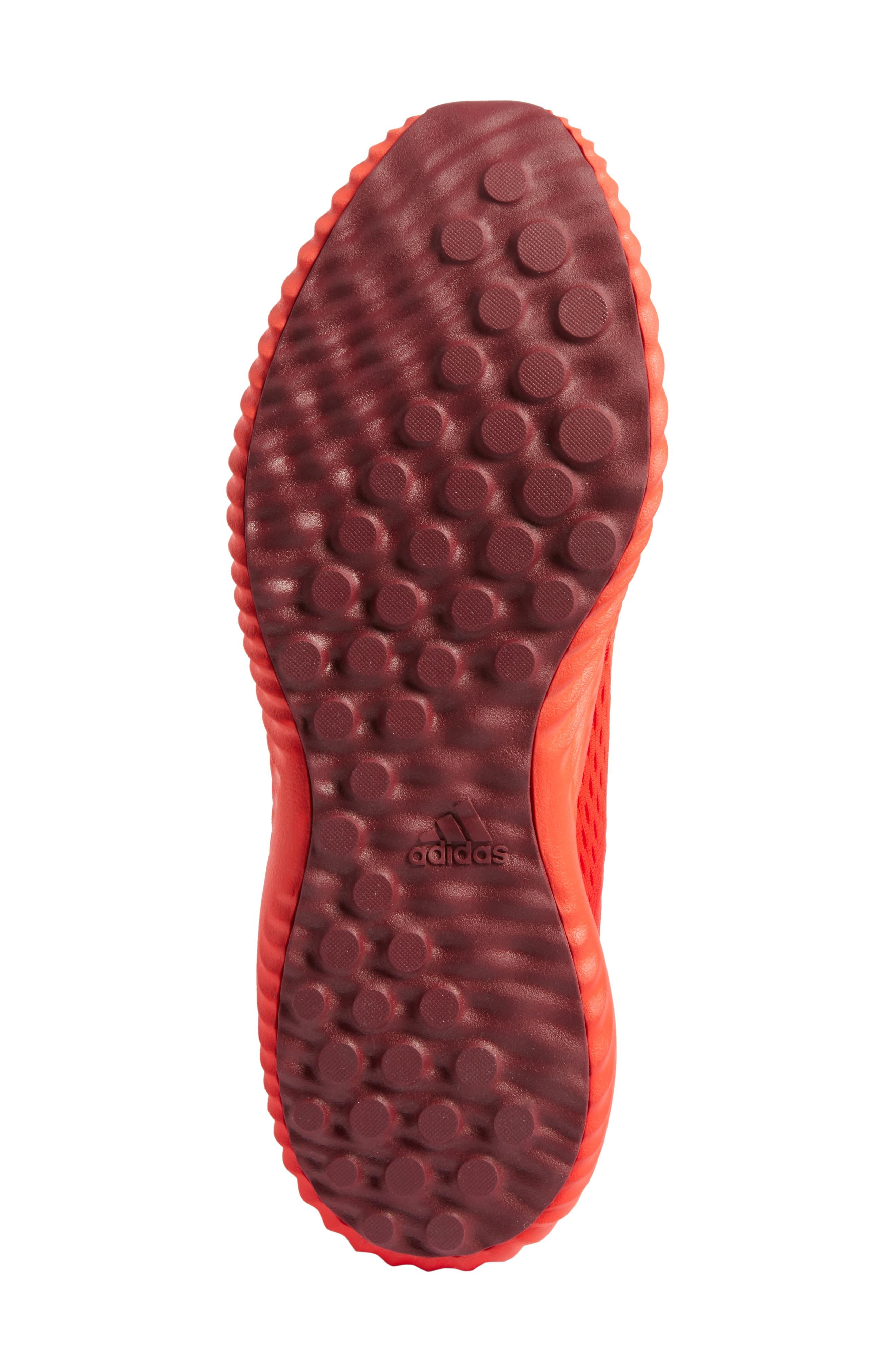 AlphaBounce Running Shoe,                             Alternate thumbnail 6, color,                             Blaze Orange/Red/Burgundy