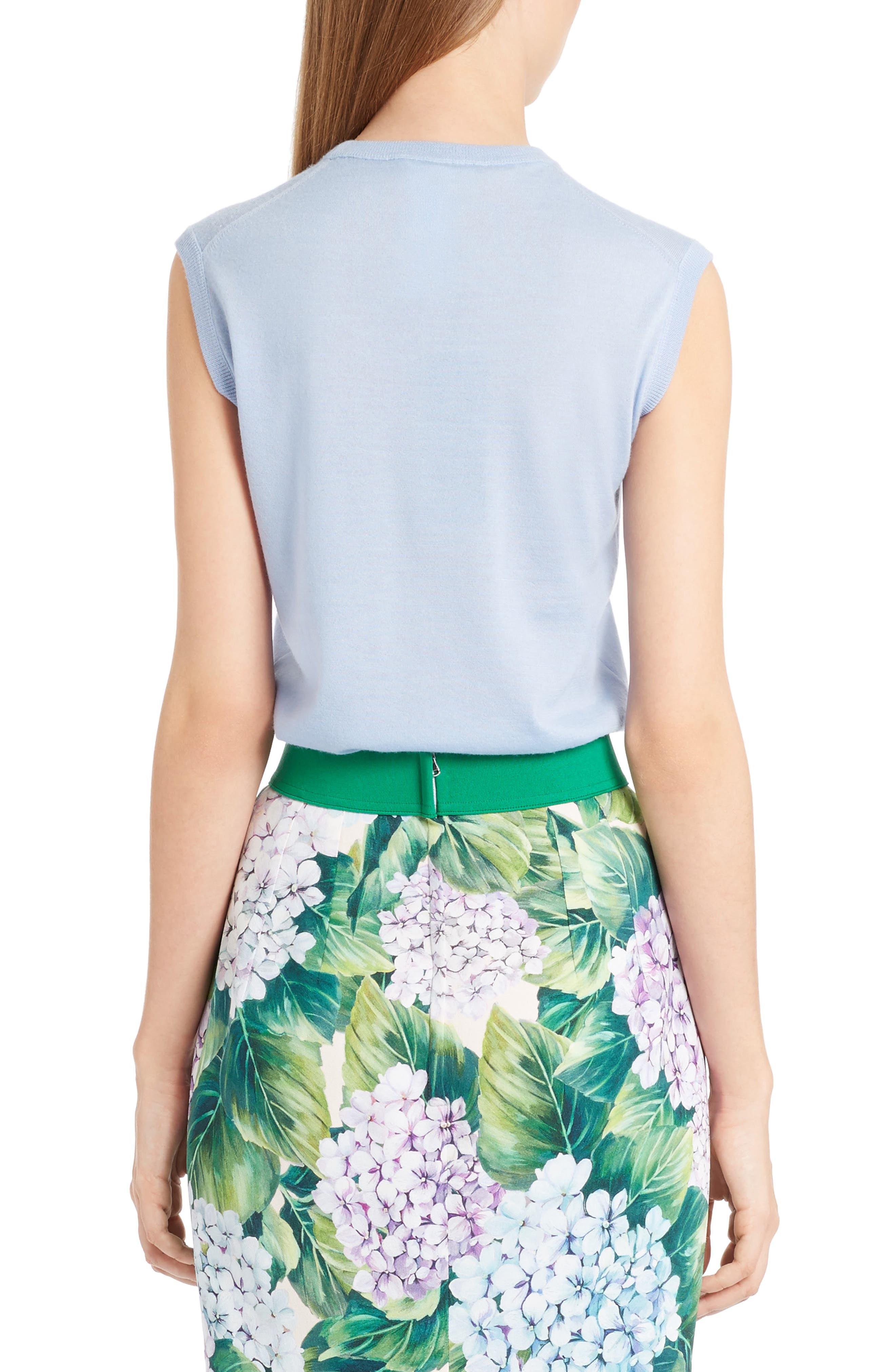 Alternate Image 2  - Dolce&Gabbana Cashmere & Silk Shell