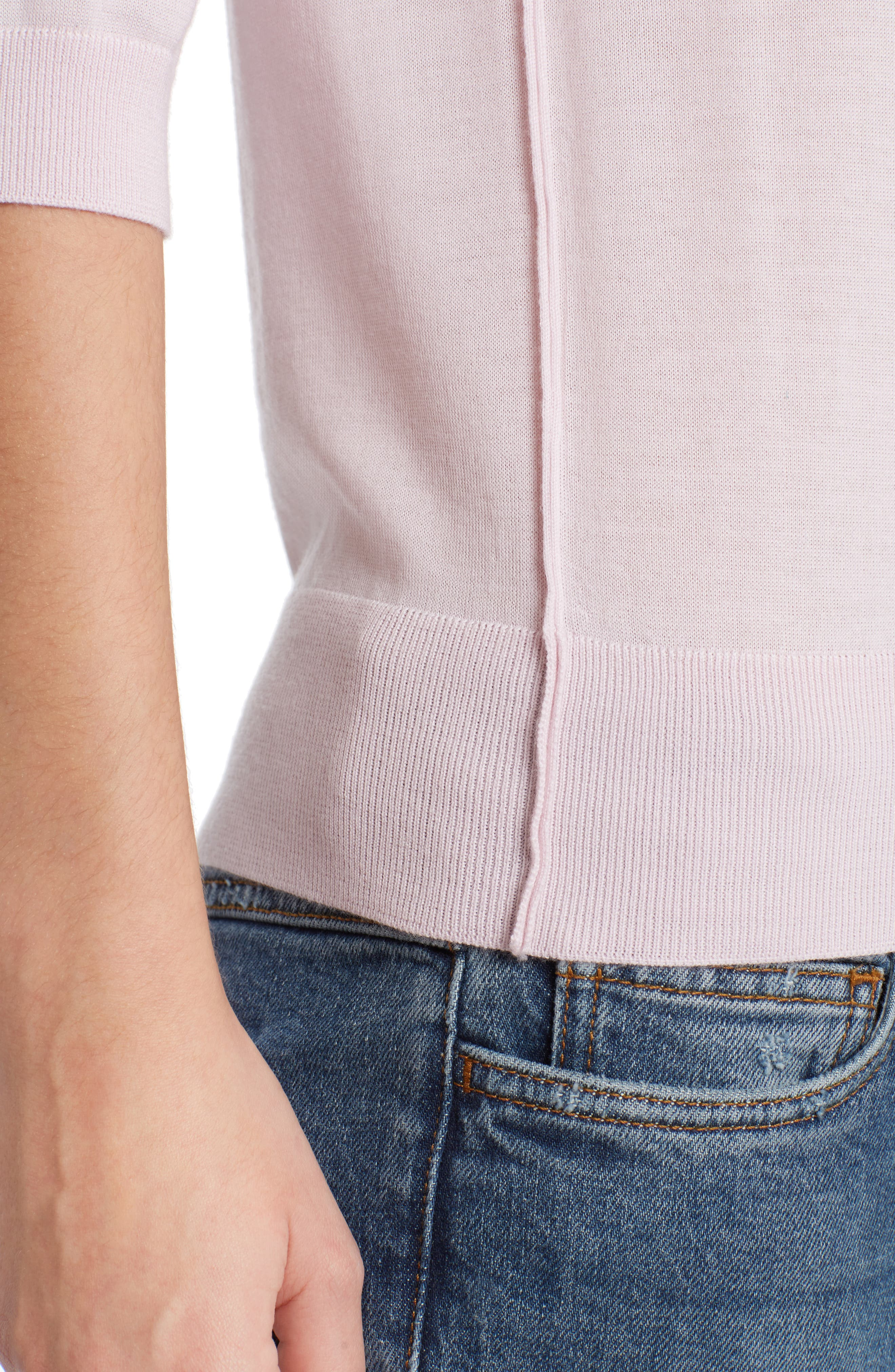 Cashmere Sweater,                             Alternate thumbnail 6, color,                             Powder Pink