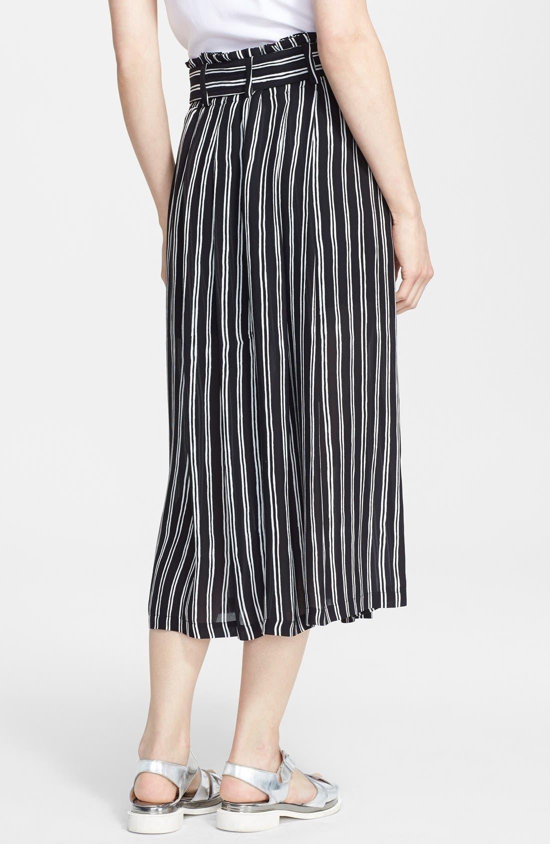 Alternate Image 2  - A.L.C. 'McDermott' Stripe Silk Midi Skirt