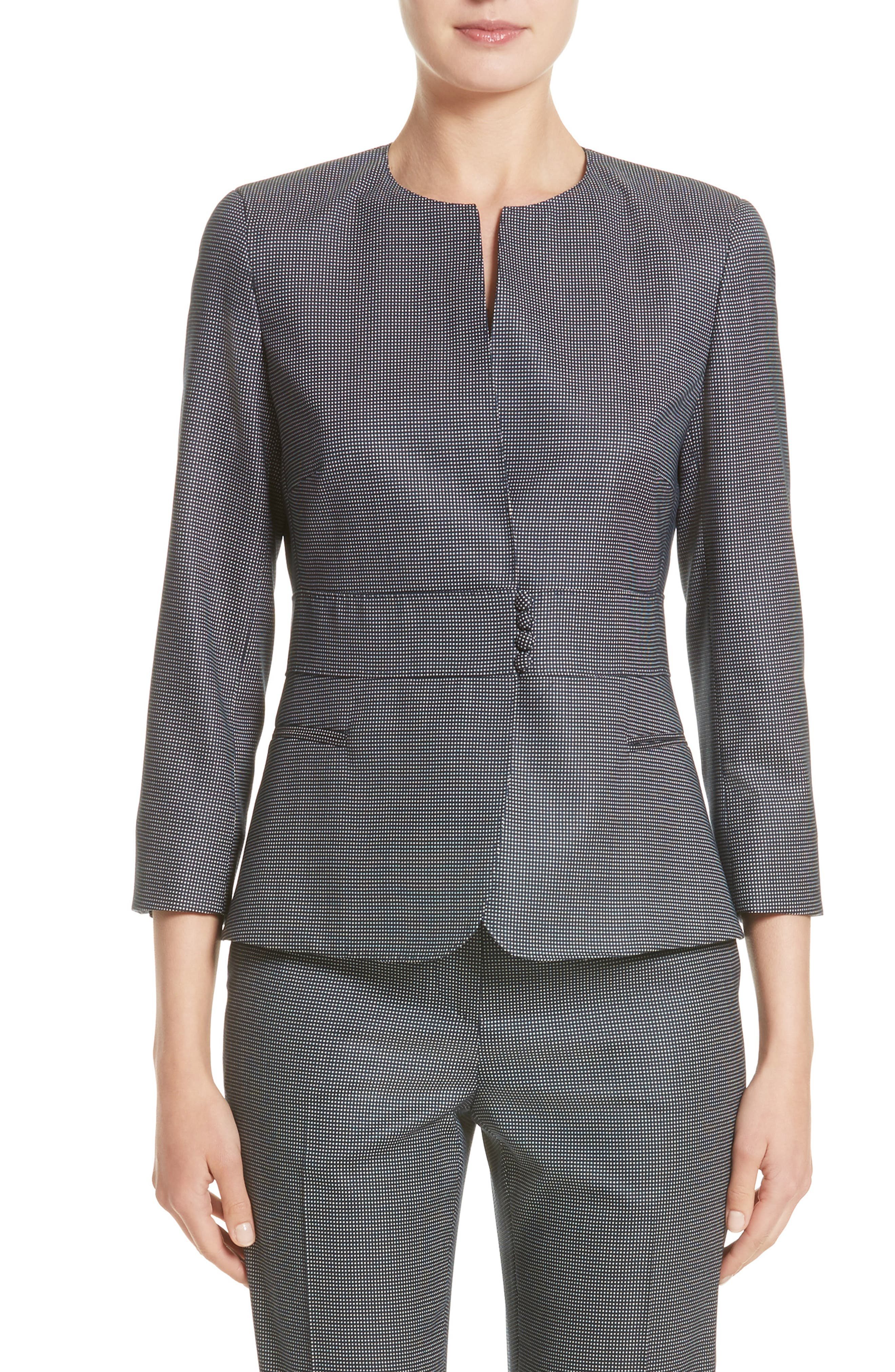 Max Mara Roncolo Stretch Wool & Silk Jacket (Nordstrom Exclusive)
