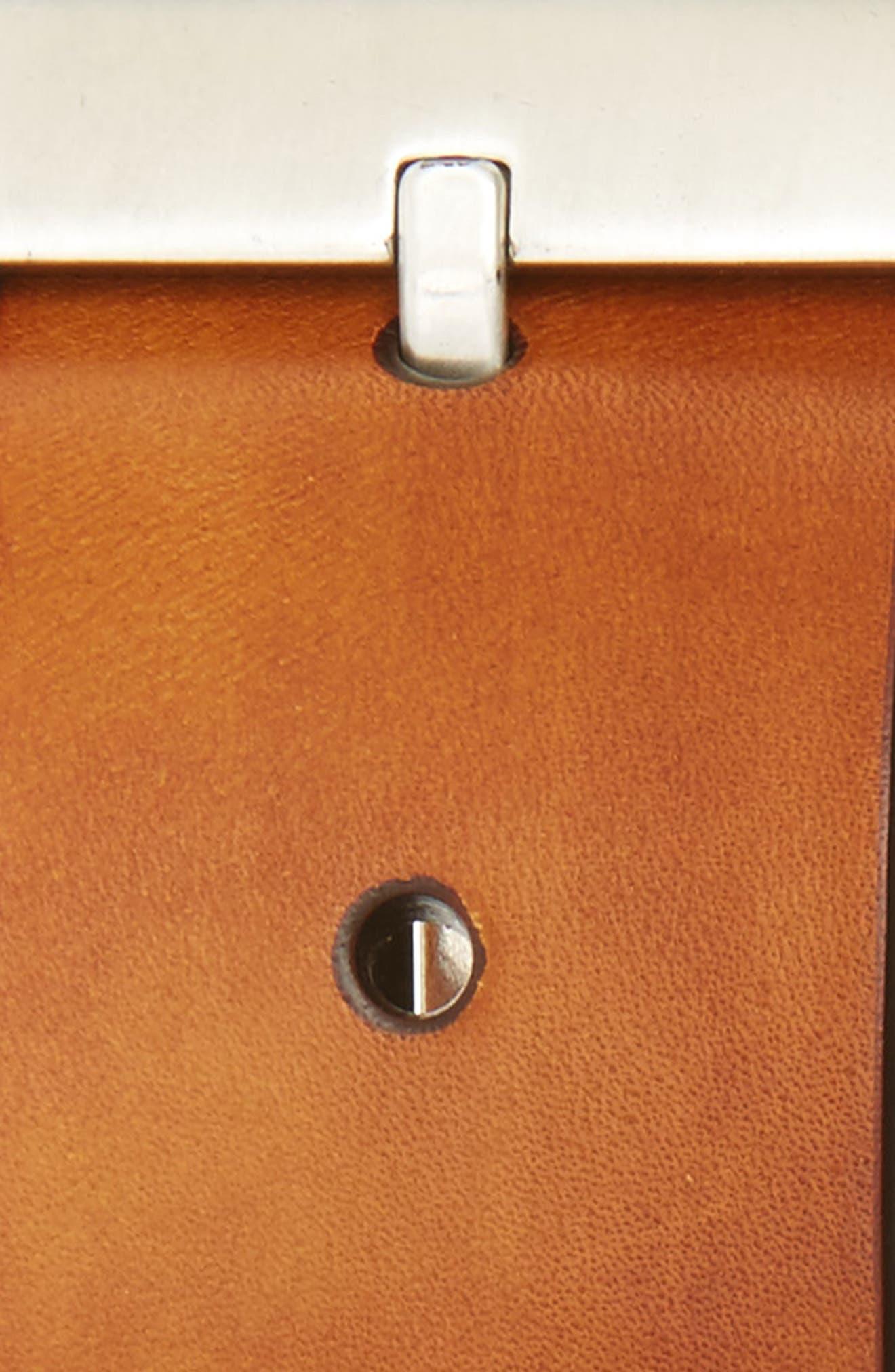 Hand Antiqued Leather Belt,                             Alternate thumbnail 2, color,                             Cognac