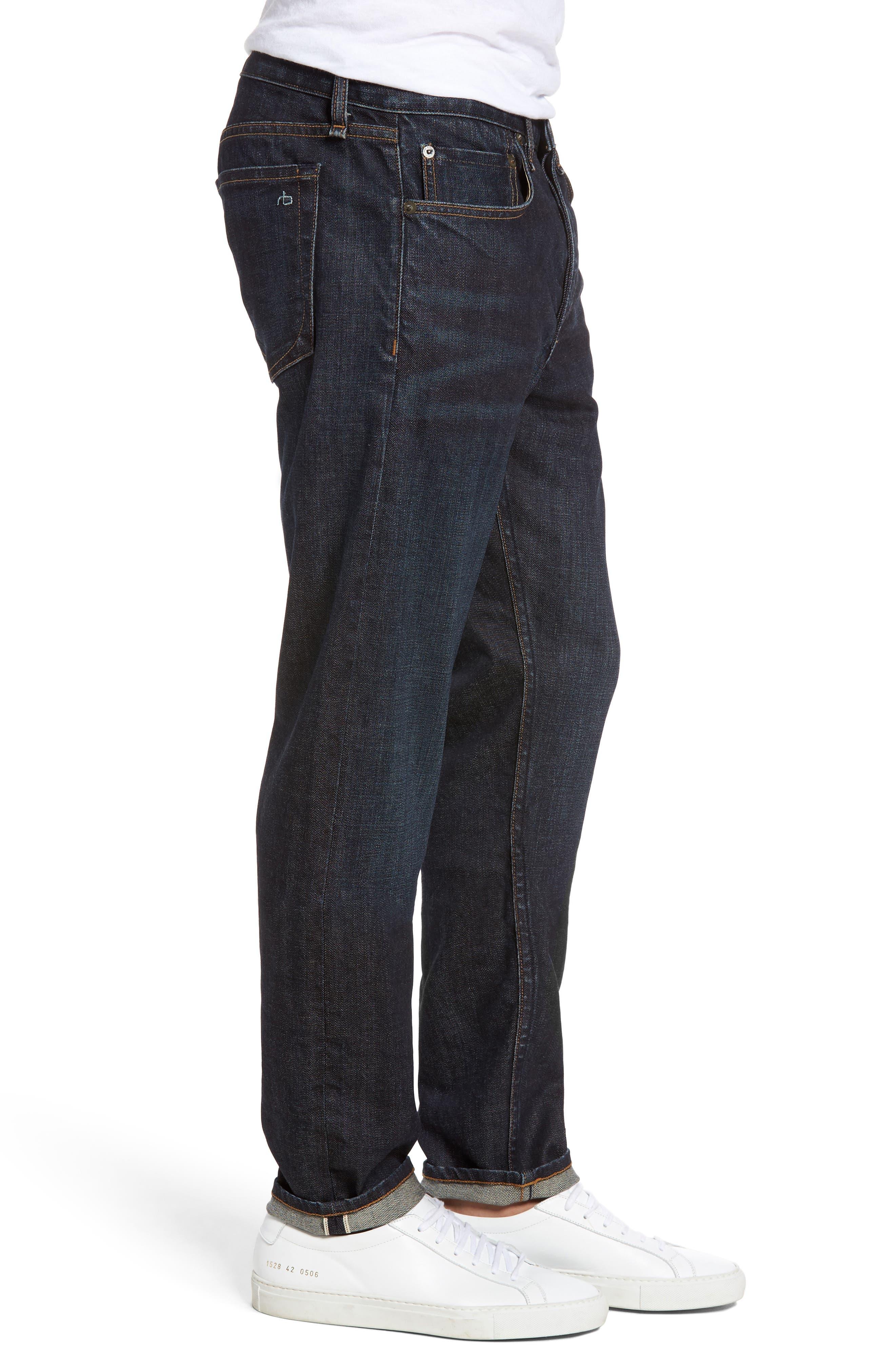 Alternate Image 3  - rag & bone Fit 2 Slim Fit Selvedge Jeans (Tempest)