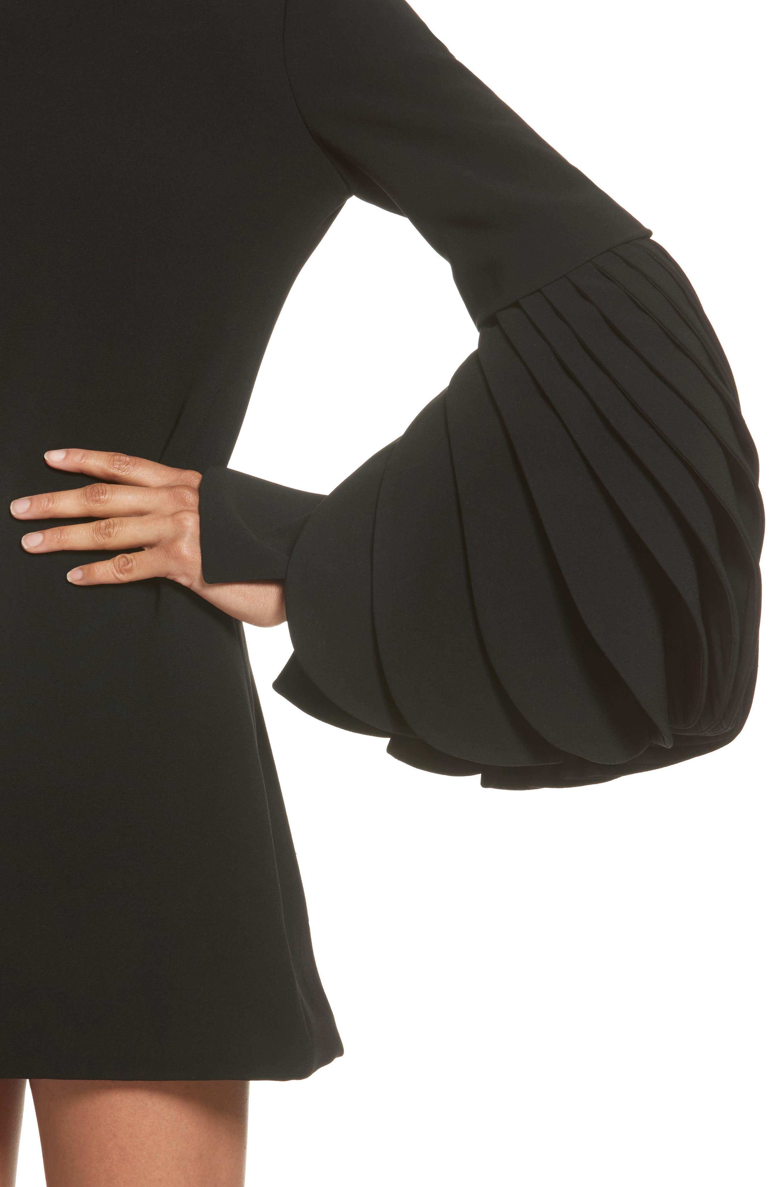 Alternate Image 6  - Brandon Maxwell Petal Sleeve Crepe Dress