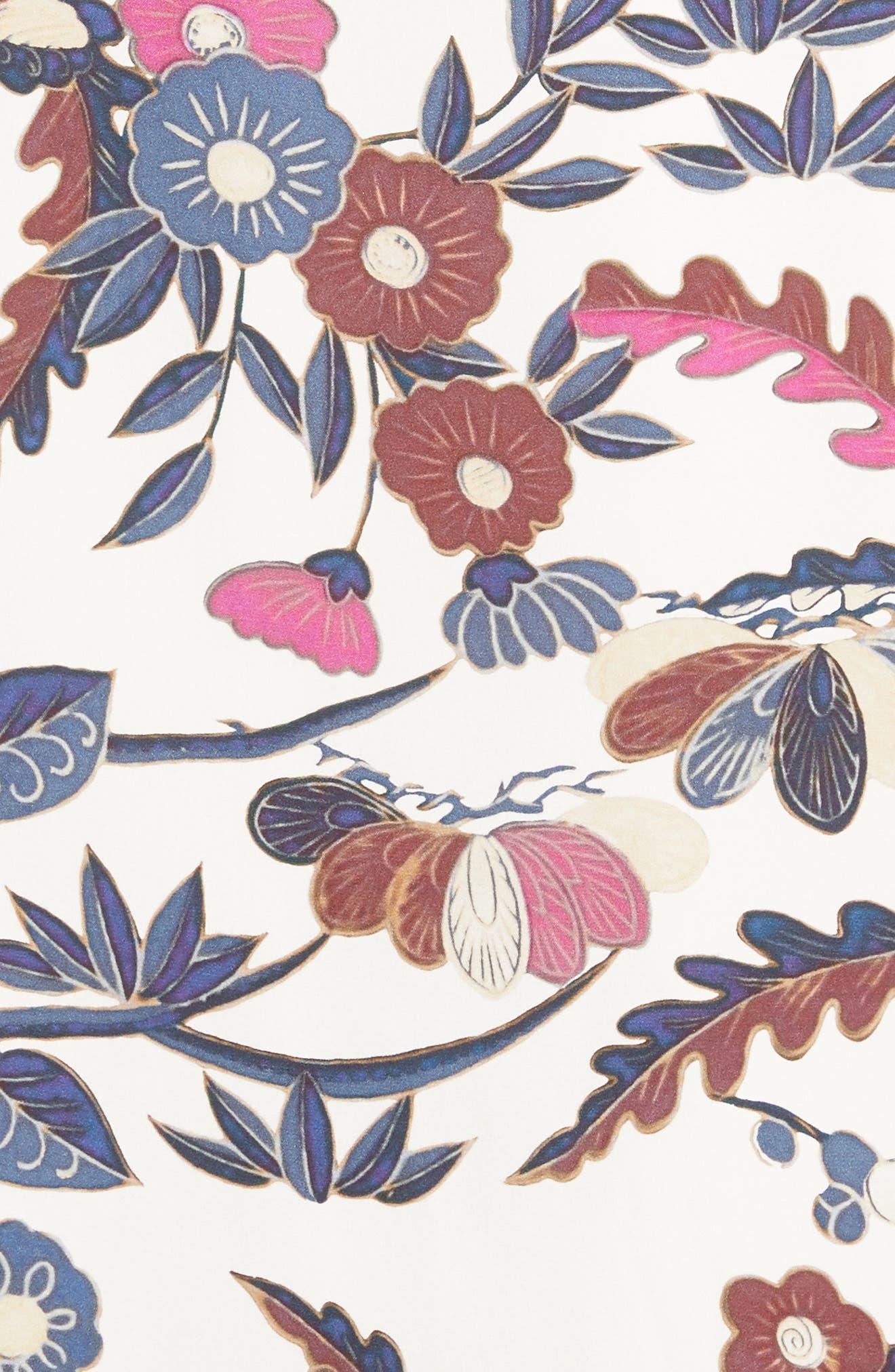 Howe Kimono Wrap Dress,                             Alternate thumbnail 5, color,                             Ivory