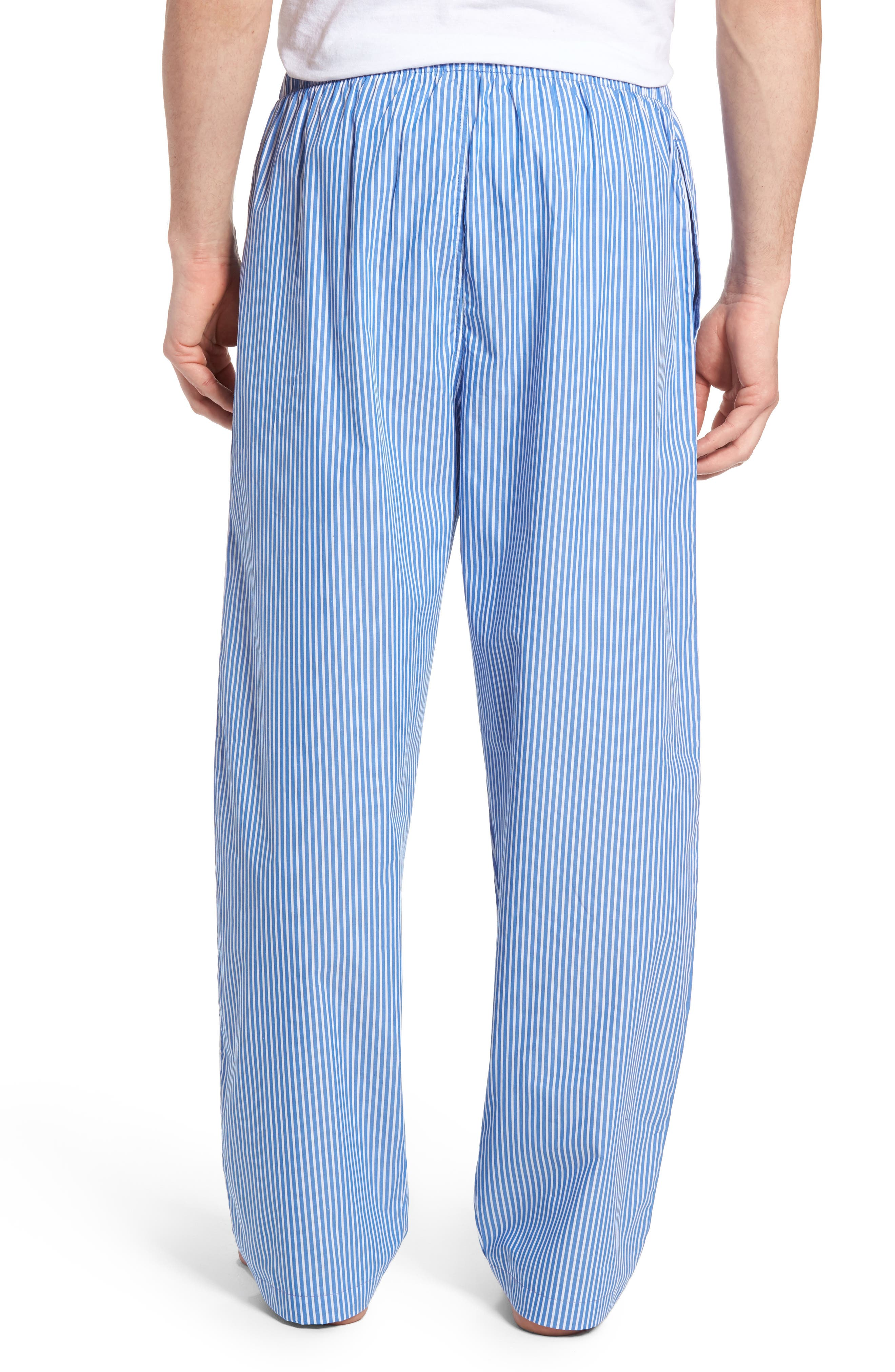 Cotton Lounge Pants,                             Alternate thumbnail 2, color,                             King Blue Stripe