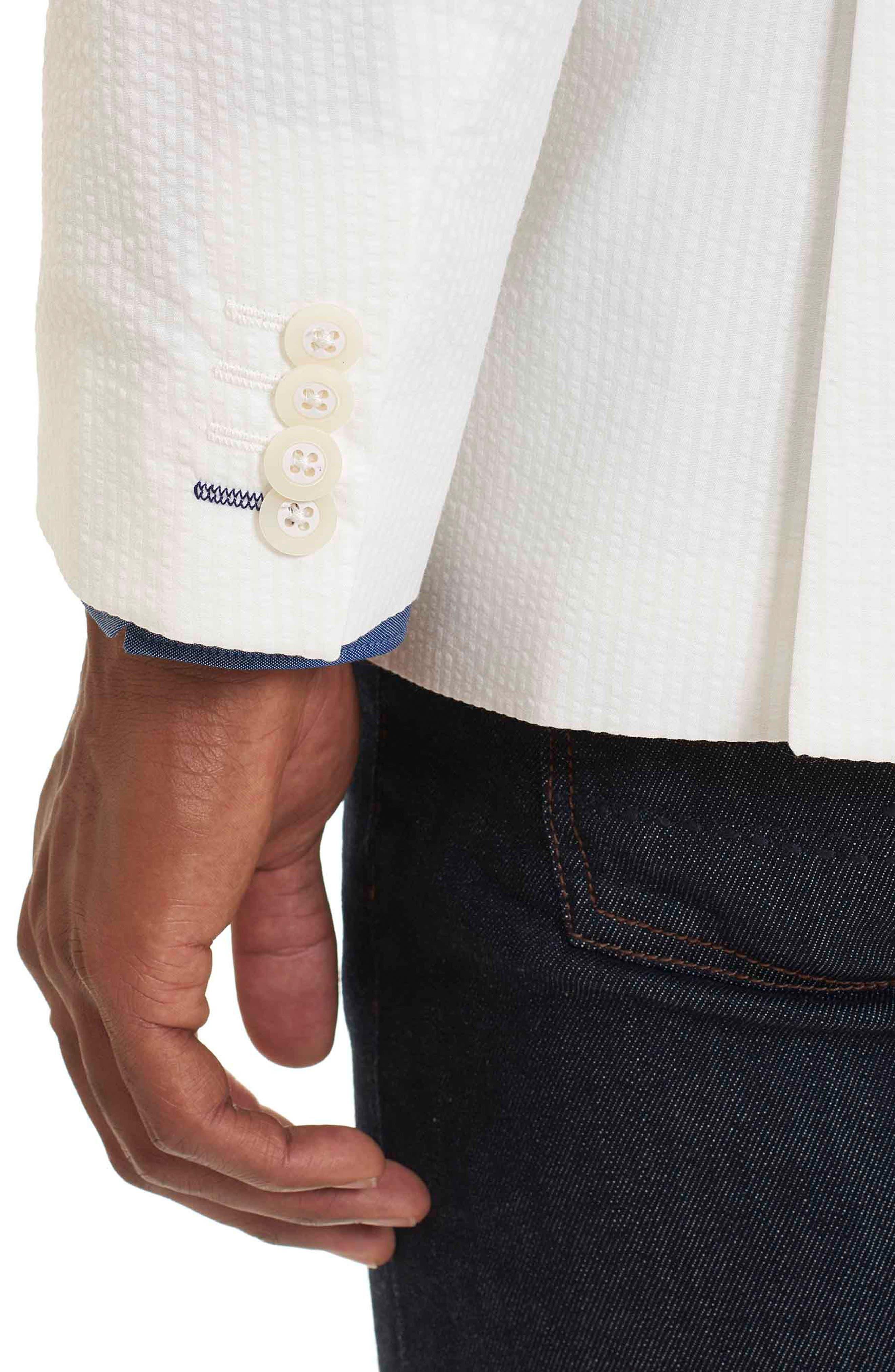 Castroville Classic Fit Sport Coat,                             Alternate thumbnail 4, color,                             White