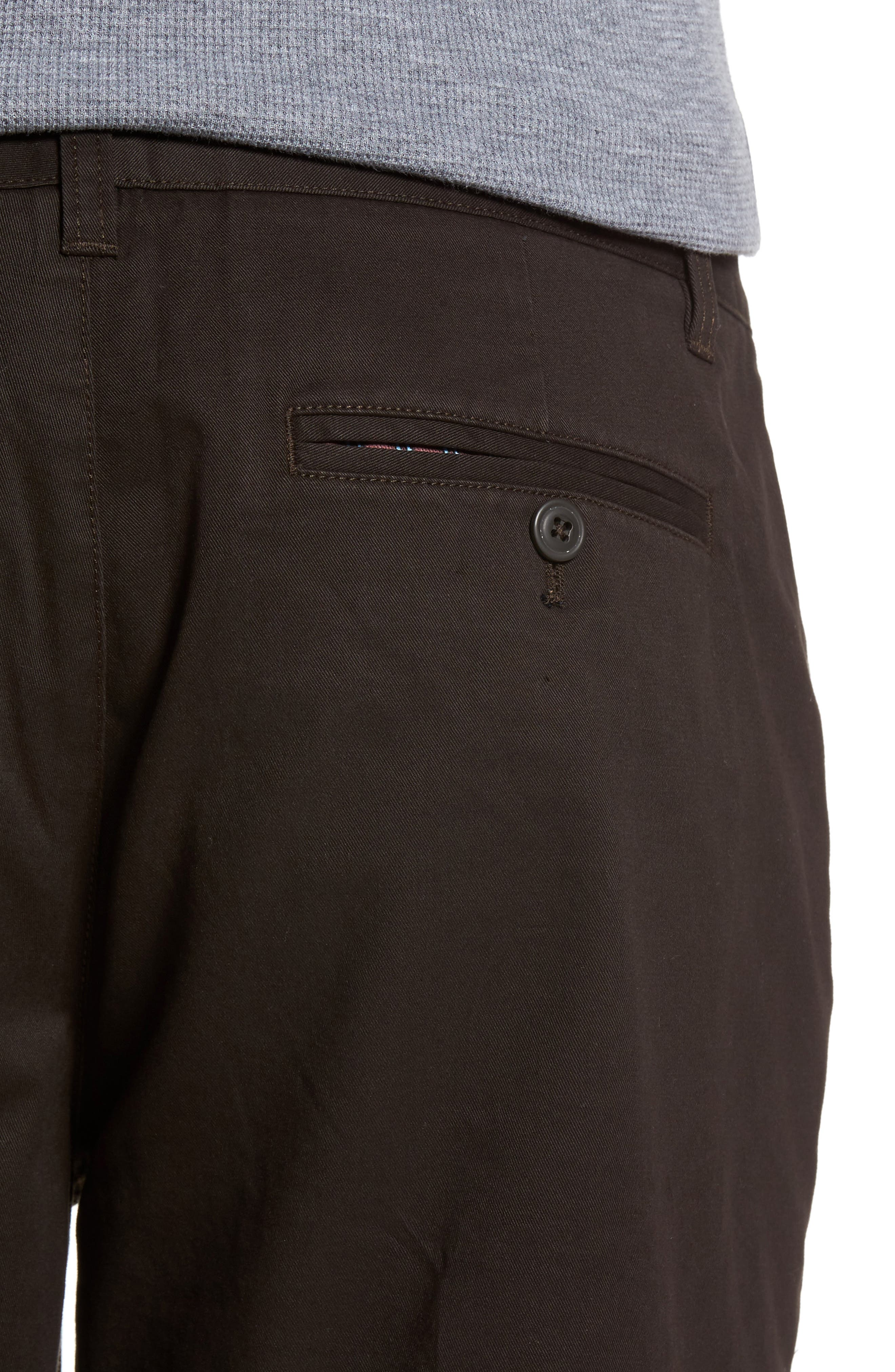 Straight Leg Stretch Washed Chinos,                             Alternate thumbnail 4, color,                             Chocolate Ale