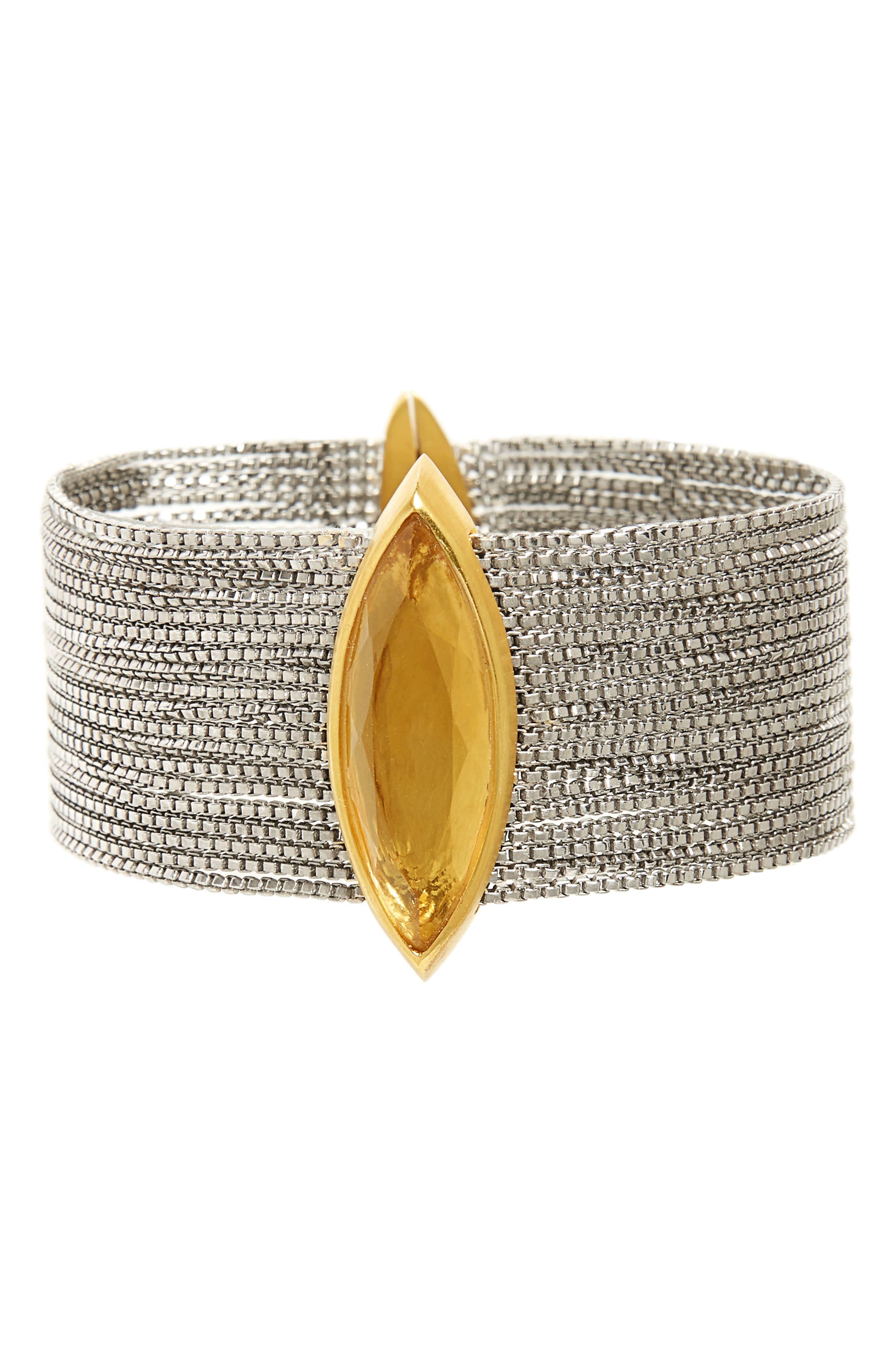 Ornate Bracelet,                         Main,                         color, Lemon Quartz