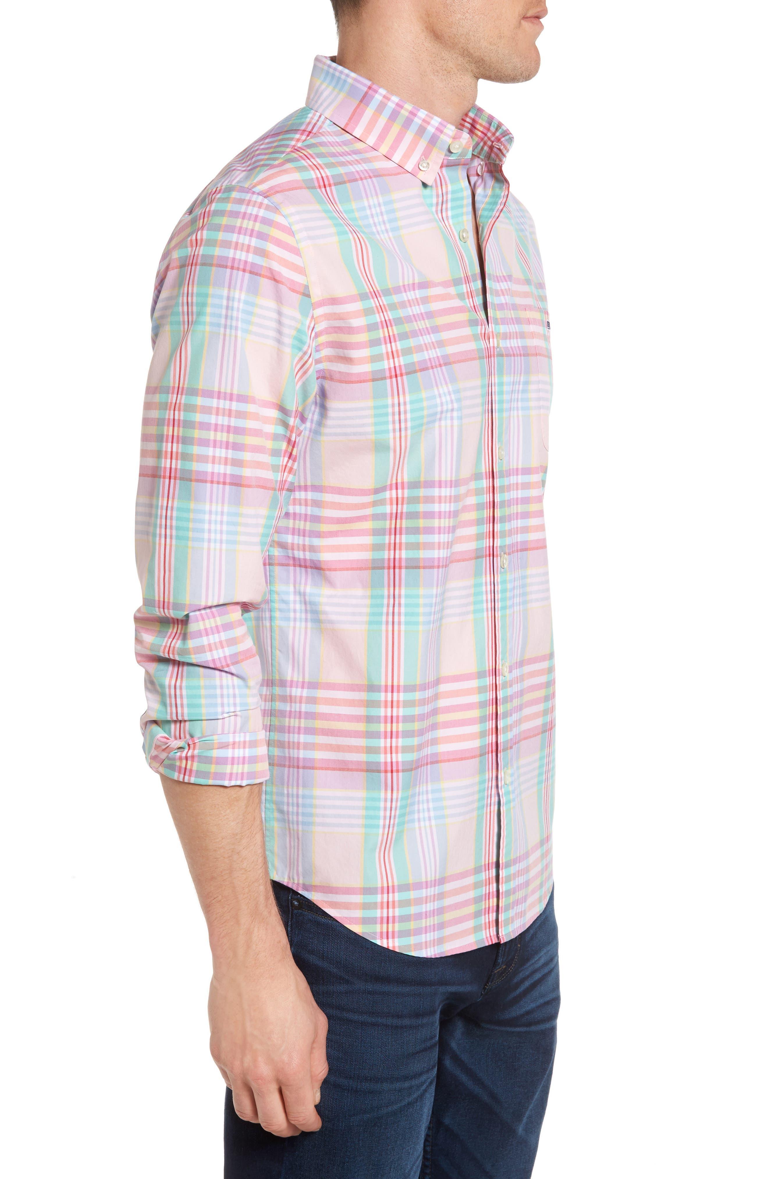 Alternate Image 3  - Vineyard Vines Slim Fit Tucker Plaid Sport Shirt