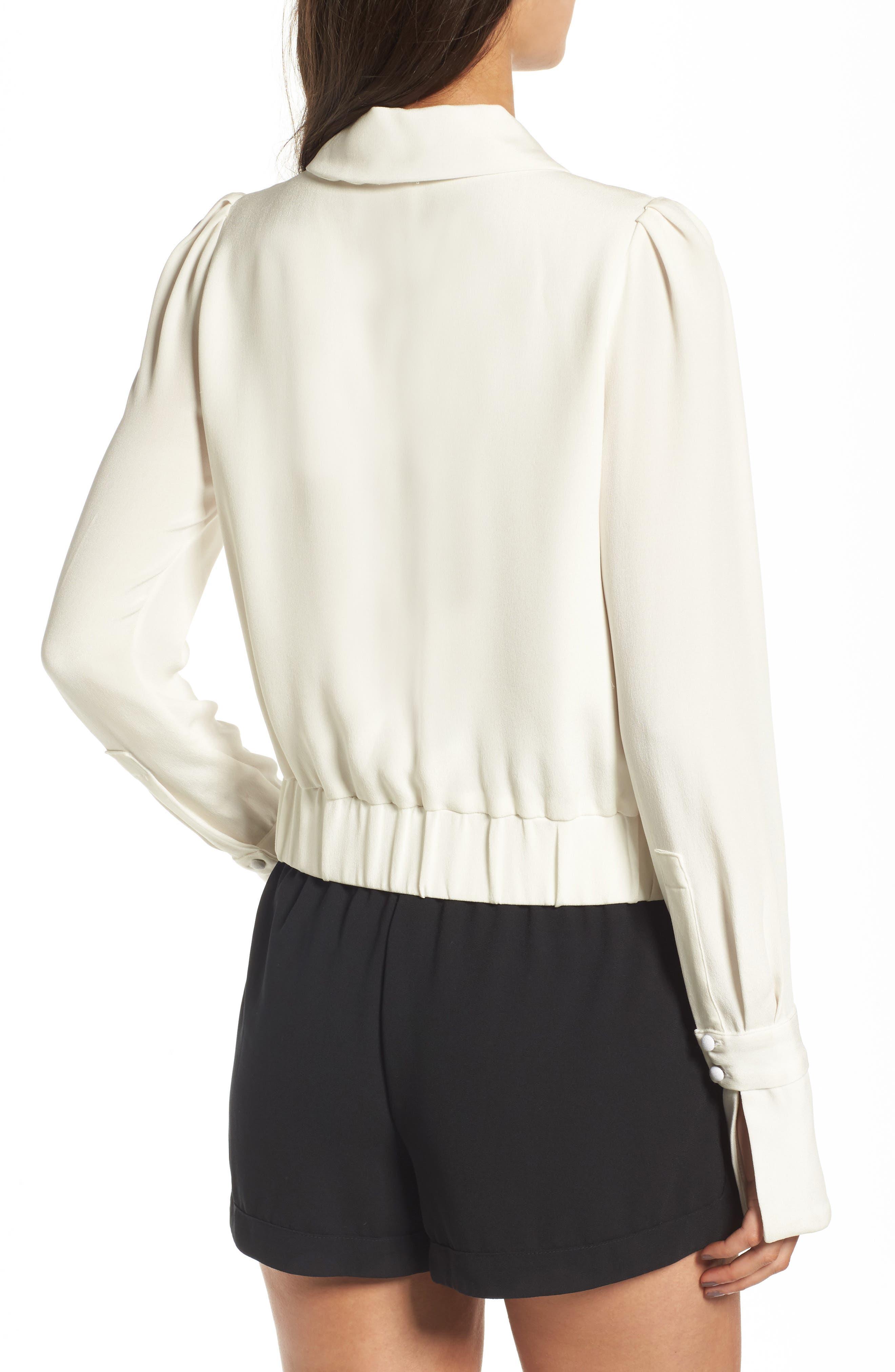 Harbor Silk Jacket,                             Alternate thumbnail 2, color,                             White Silk