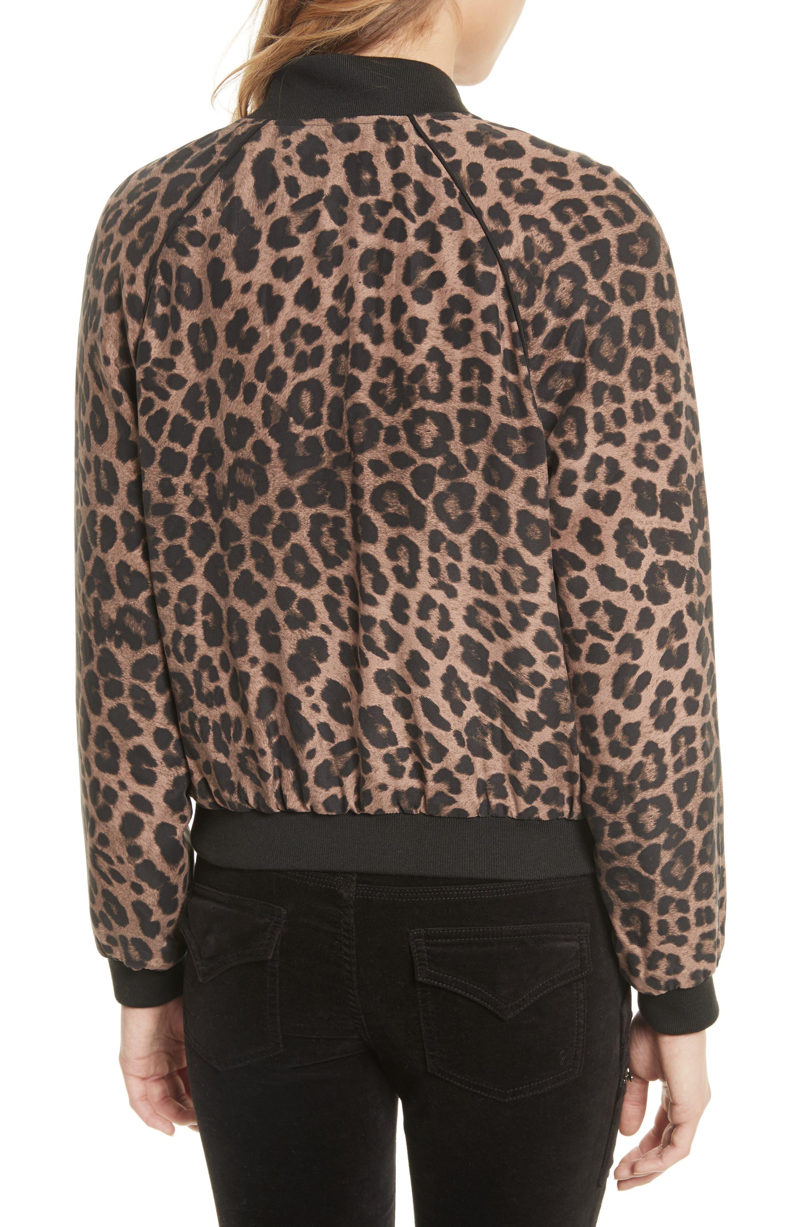 Alternate Image 2  - Joie Julita Leopard Print Silk Jacket