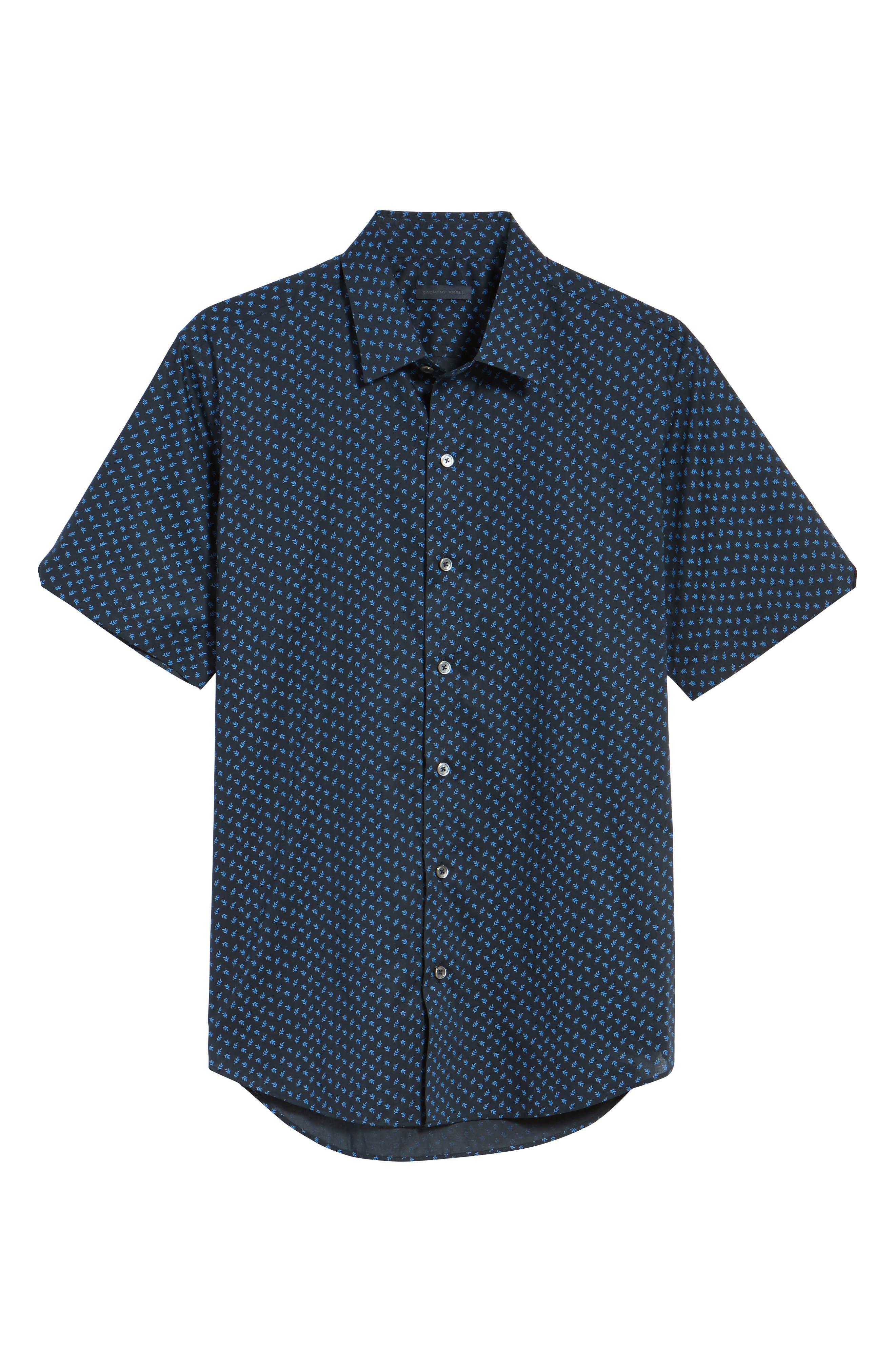 Alternate Image 6  - Zachary Prell Print Short Sleeve Sport Shirt