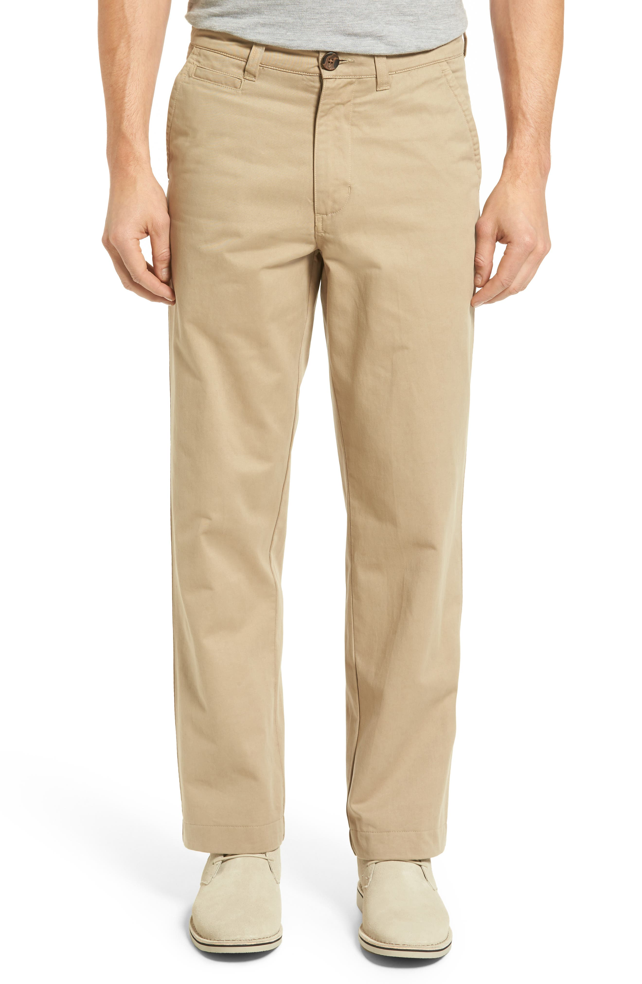 VINTAGE 1946 Classic Fit Military Chinos in British Tan