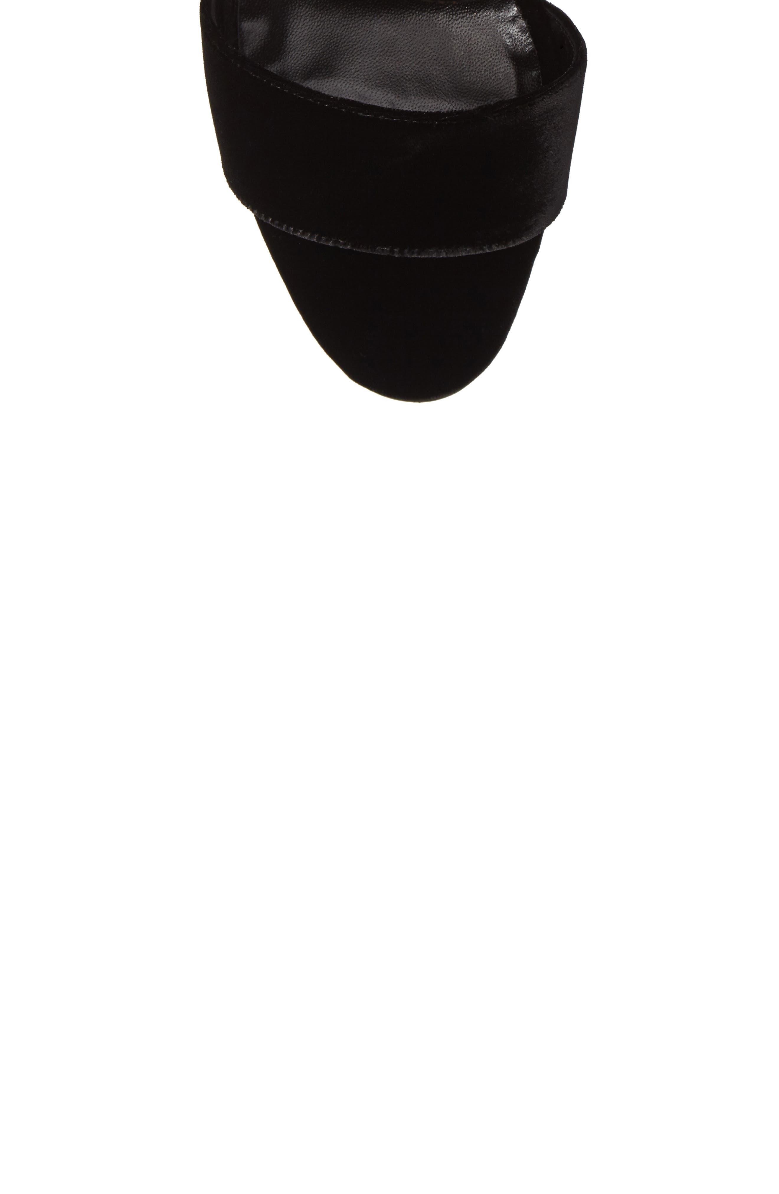 Tres Sandal,                             Alternate thumbnail 5, color,                             Black Velvet