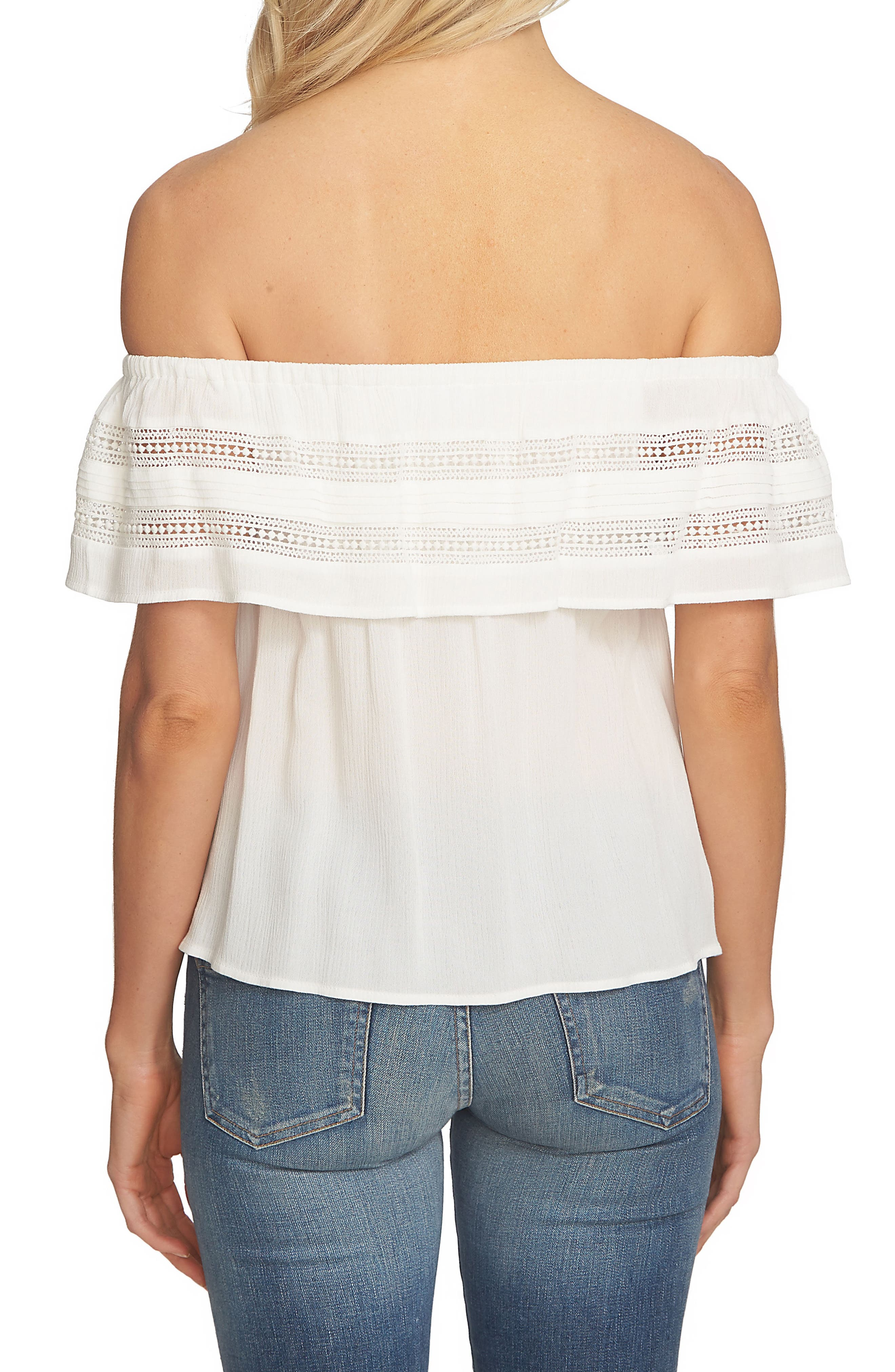 Ruffle Off the Shoulder Top,                             Alternate thumbnail 2, color,                             Cloud