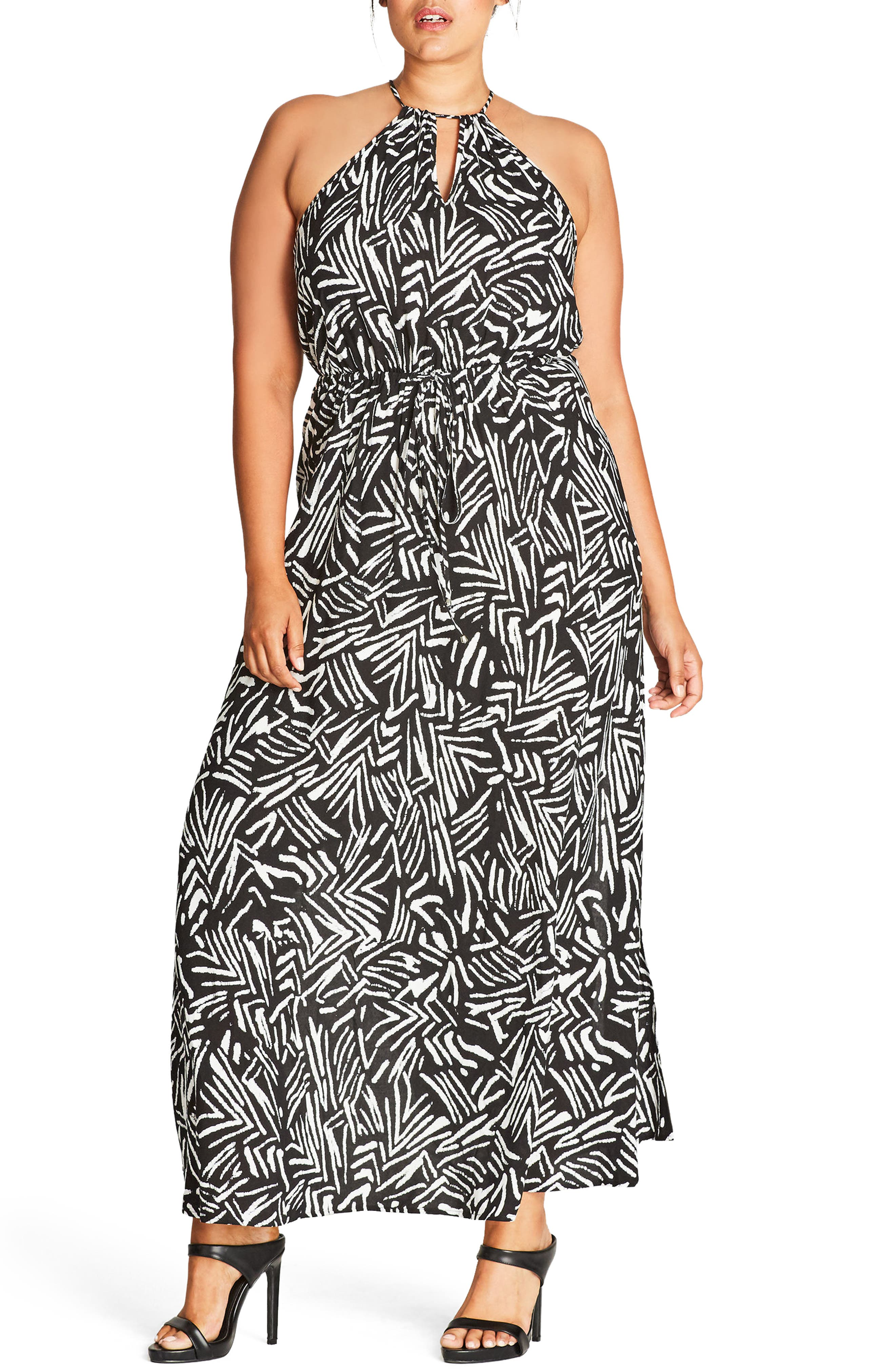 CITY CHIC Halter Maxi Dress