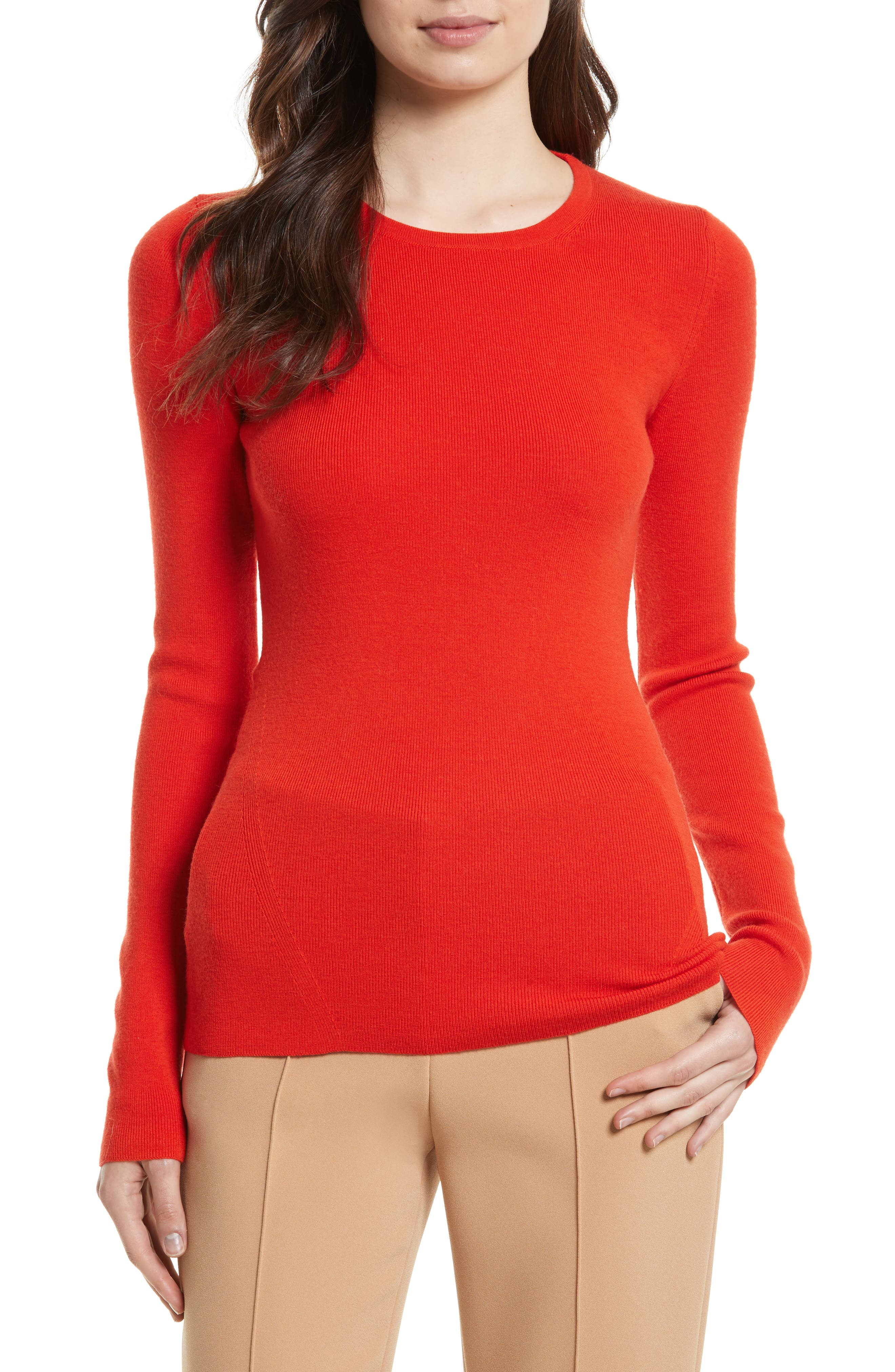 Diane von Furstenberg Cutout Fitted Sweater