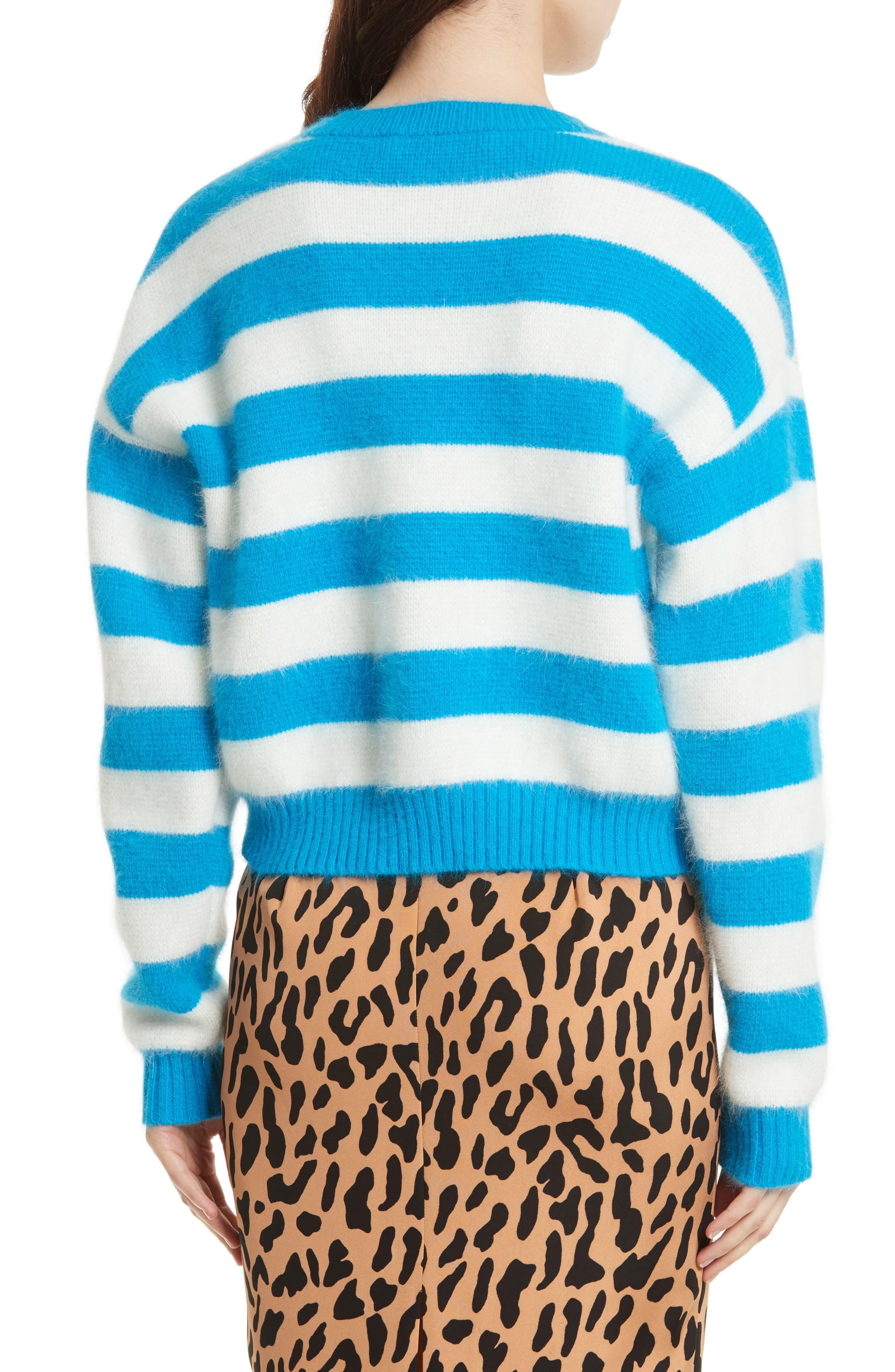 Alternate Image 3  - Diane von Furstenberg Stripe Baseball Sweater