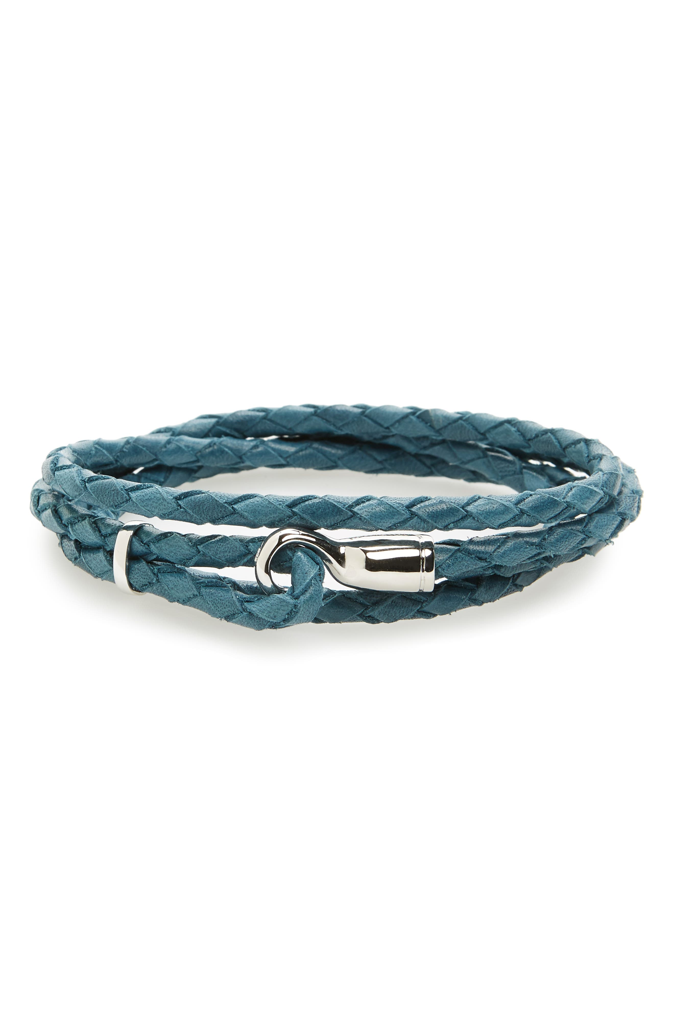 Main Image - Miansai Trice Braided Leather & Sterling Silver Bracelet