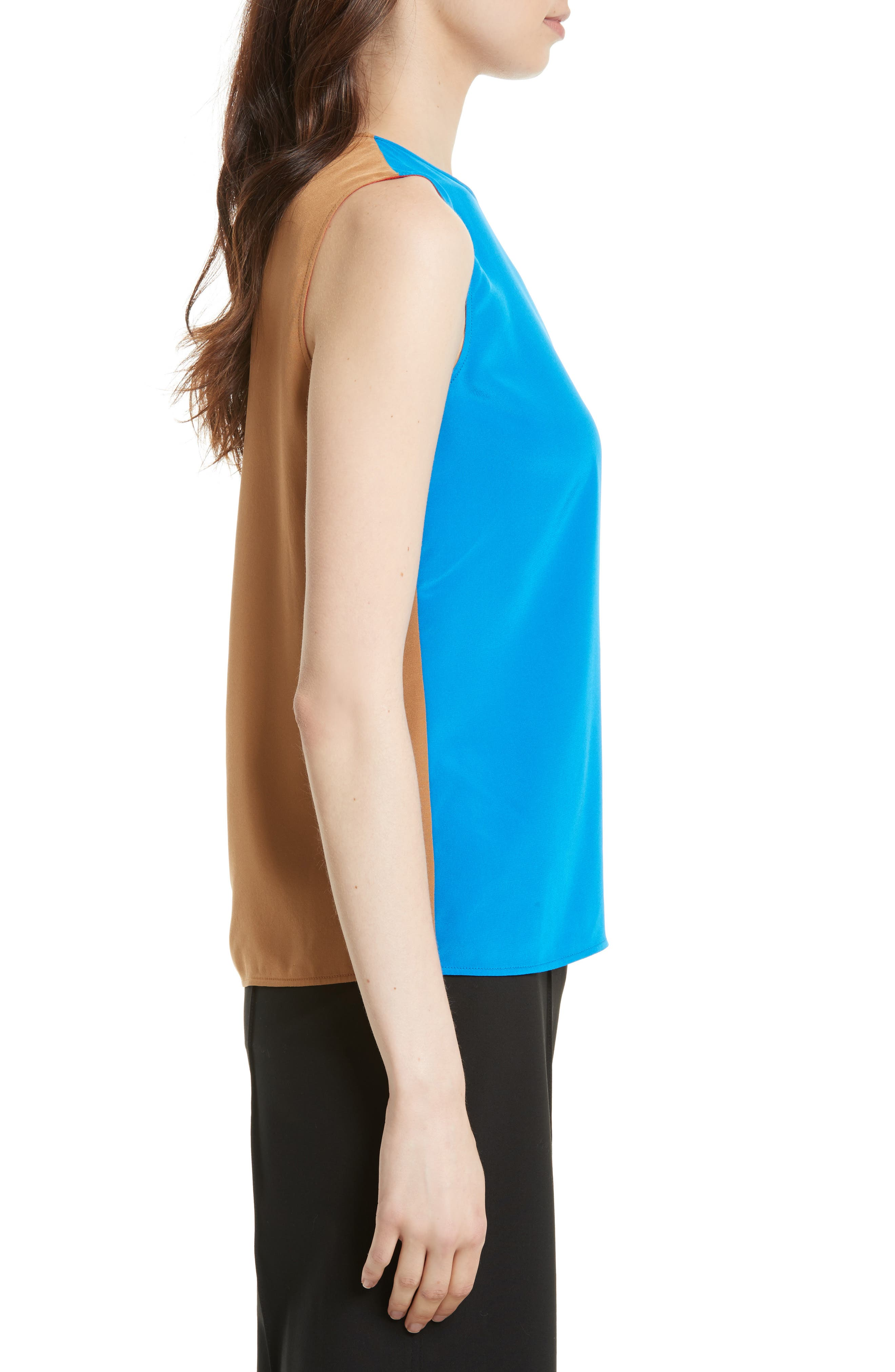 Silk Shell,                             Alternate thumbnail 4, color,                             Bright Blue/ Toffee