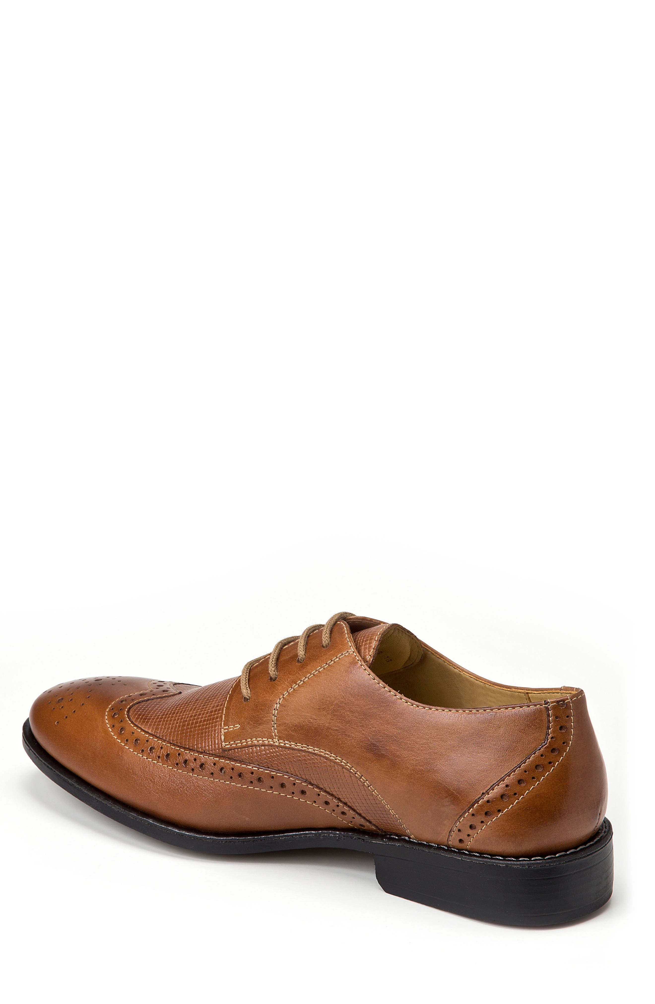 Donovan Wingtip,                             Alternate thumbnail 2, color,                             Tan Leather