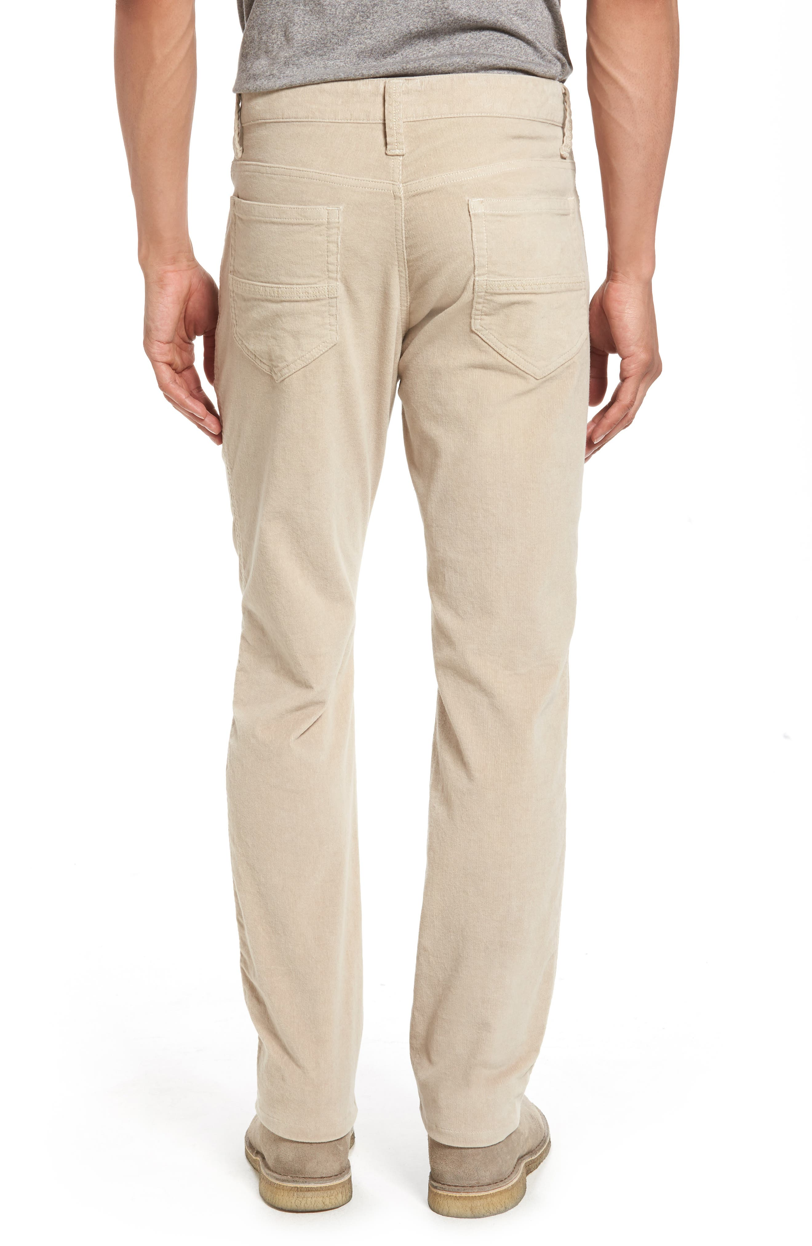 Modern Fit Stretch Corduroy Pants,                             Alternate thumbnail 2, color,                             Oatmeal