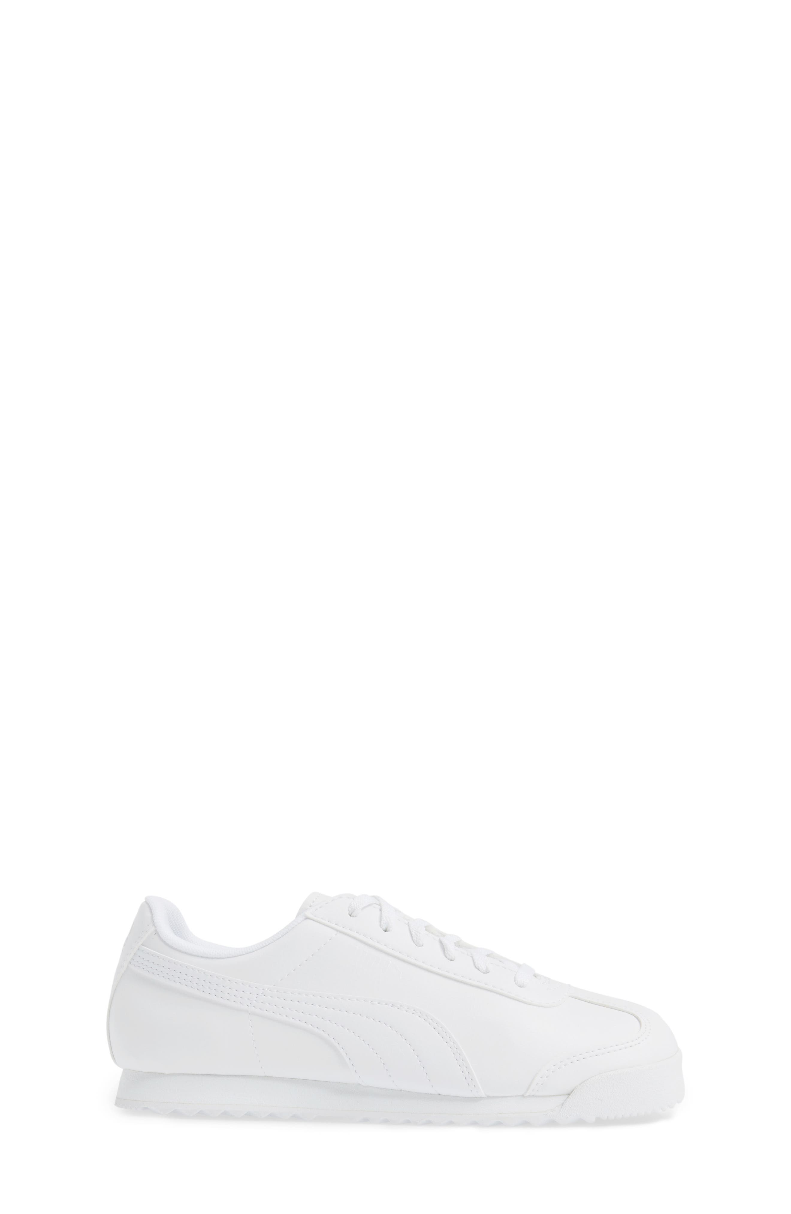 Roma Basic Sneaker,                             Alternate thumbnail 3, color,                             White/ Light Grey