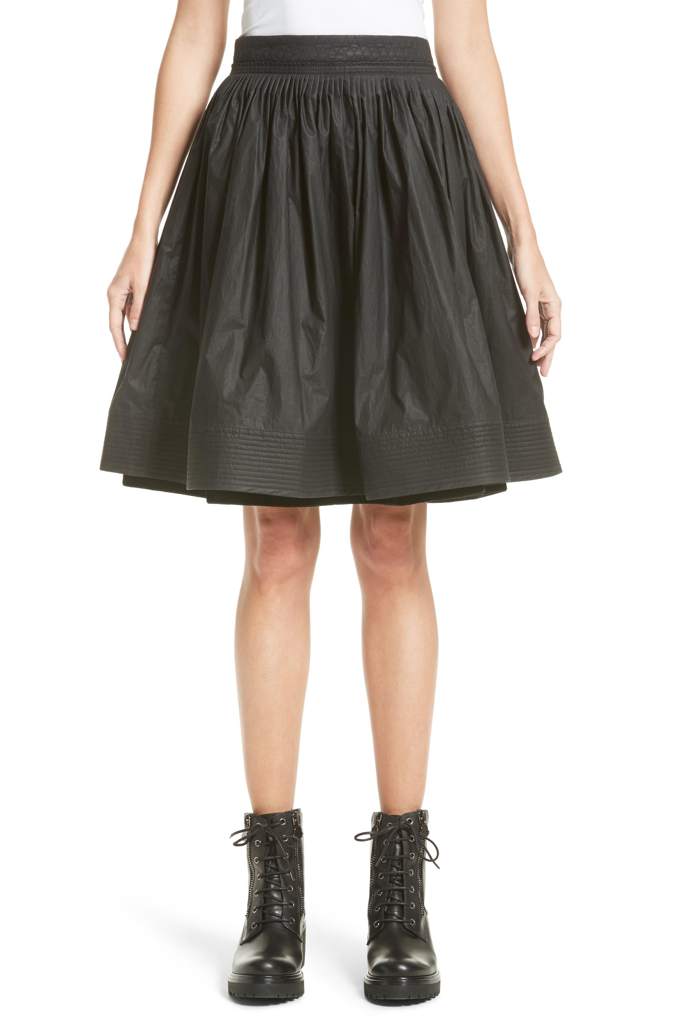 Main Image - Moncler Gonna Cotton A-Line Skirt