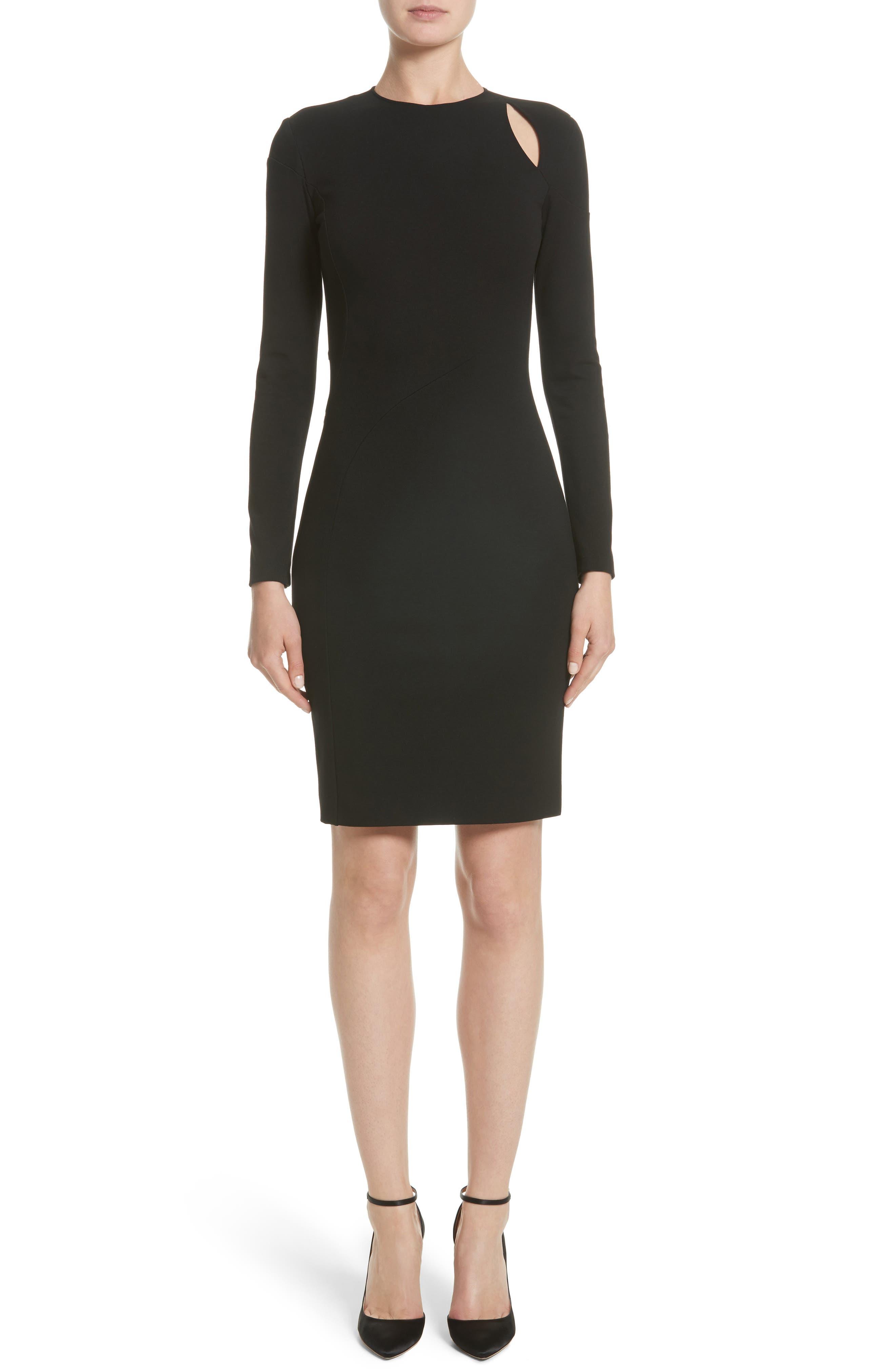 Collection Cutout Sheath Dress,                         Main,                         color, Black