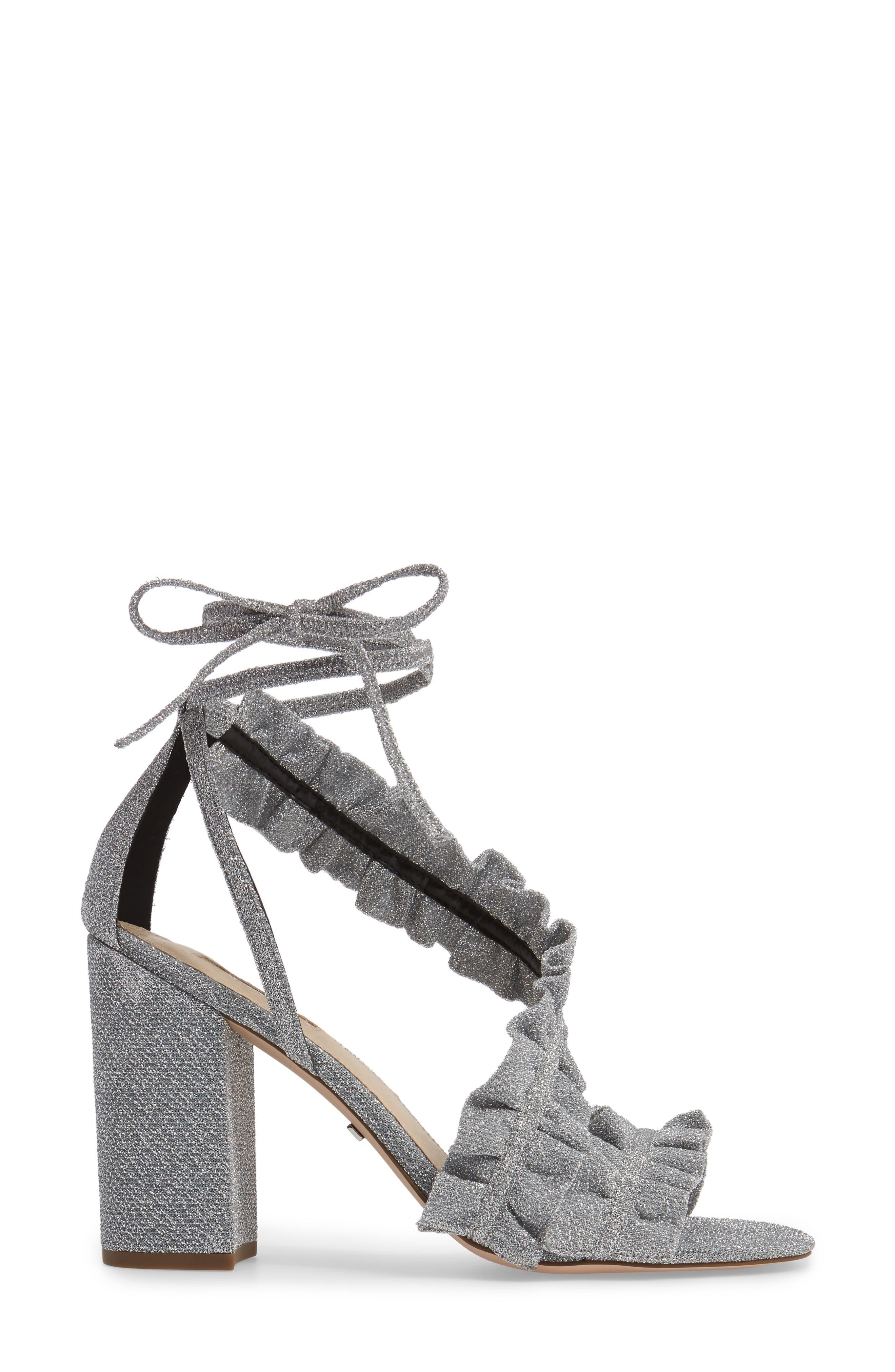 Alternate Image 3  - Topshop Real Asymmetrical Ruffled Sandal (Women)