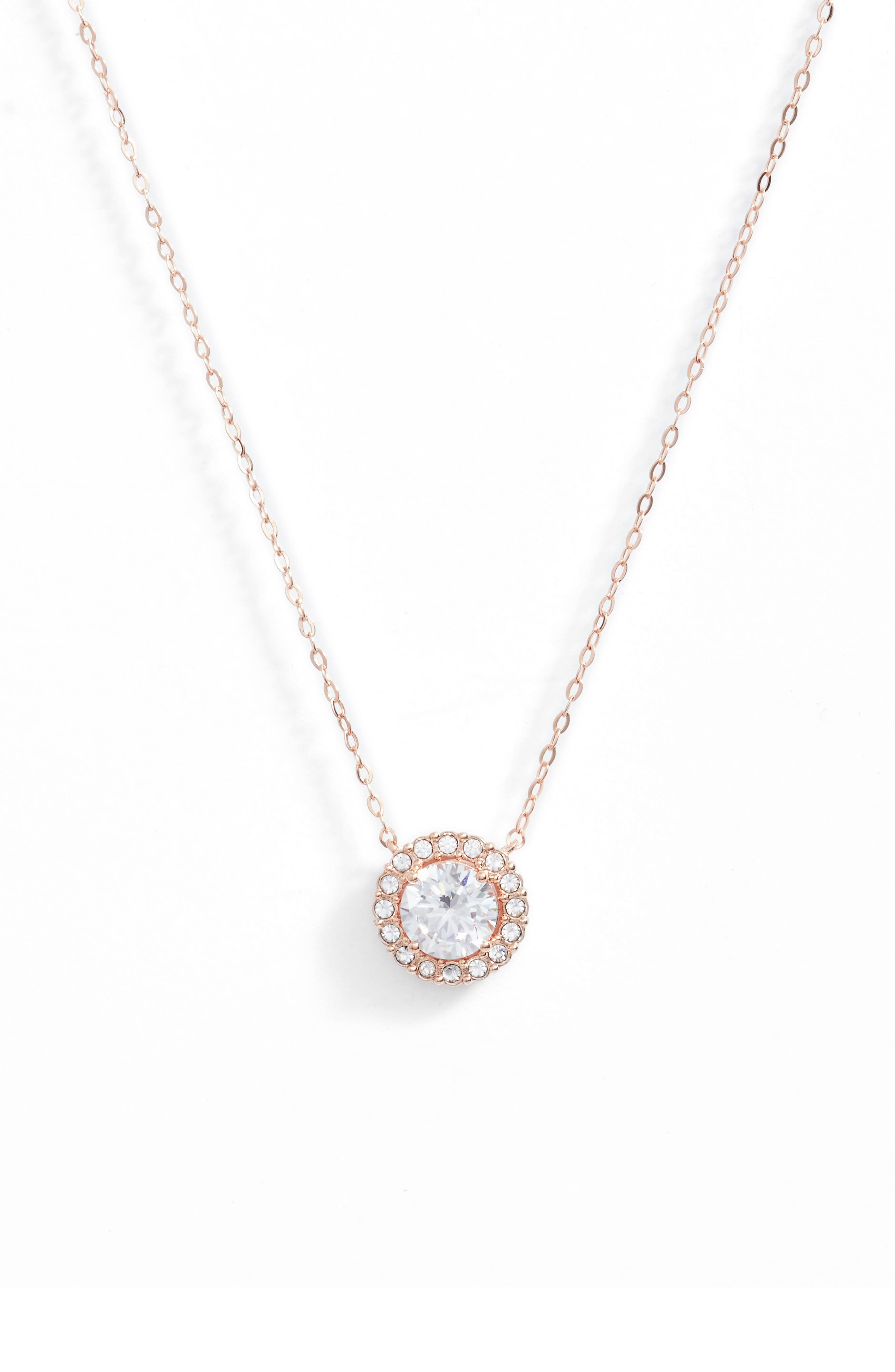 Nadri Halo Pendant Necklace