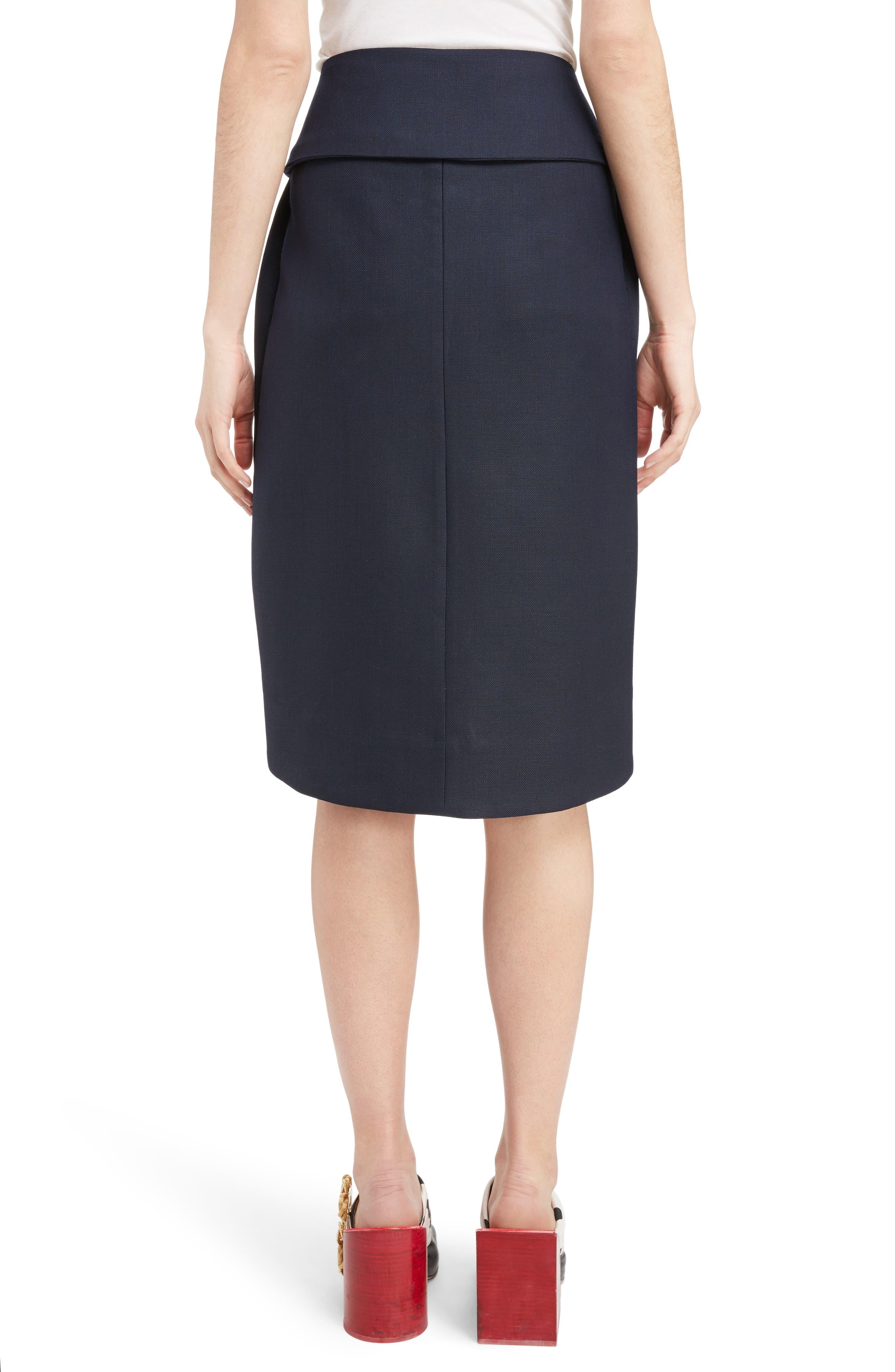 Alternate Image 2  - Jacquemus Box Pleat Asymmetrical Wool Skirt