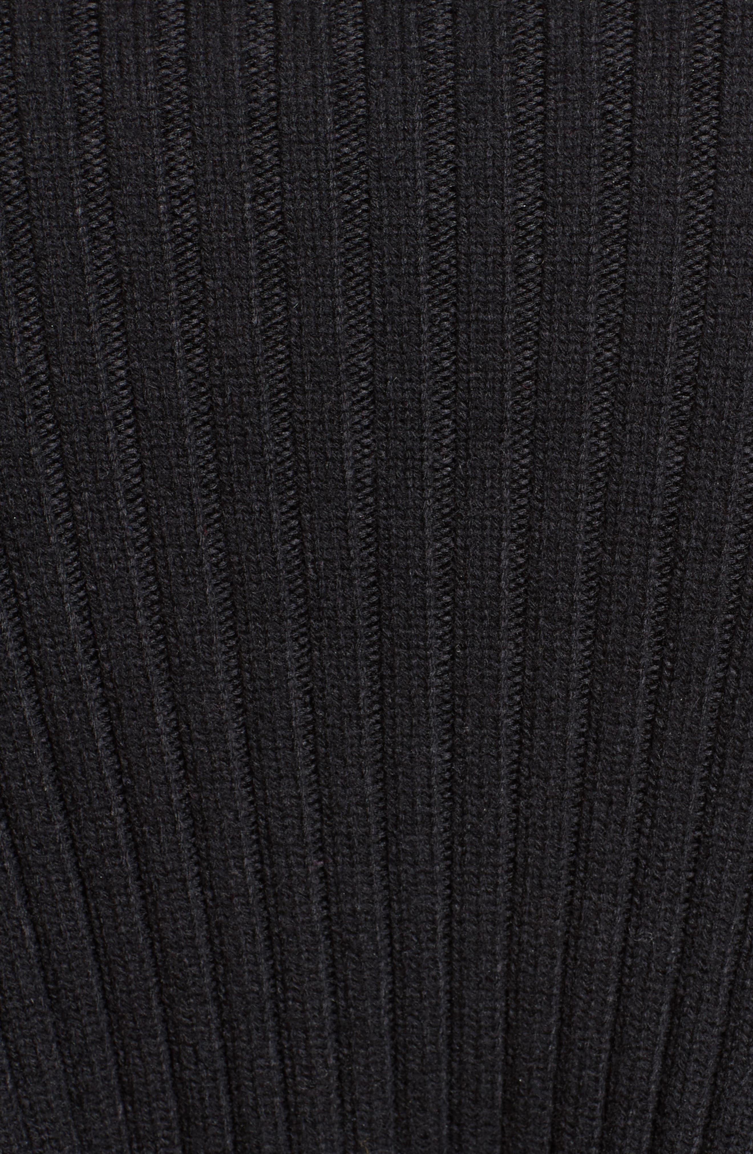 Wool & Cashmere Blend Turtleneck Dress,                             Alternate thumbnail 3, color,                             Black
