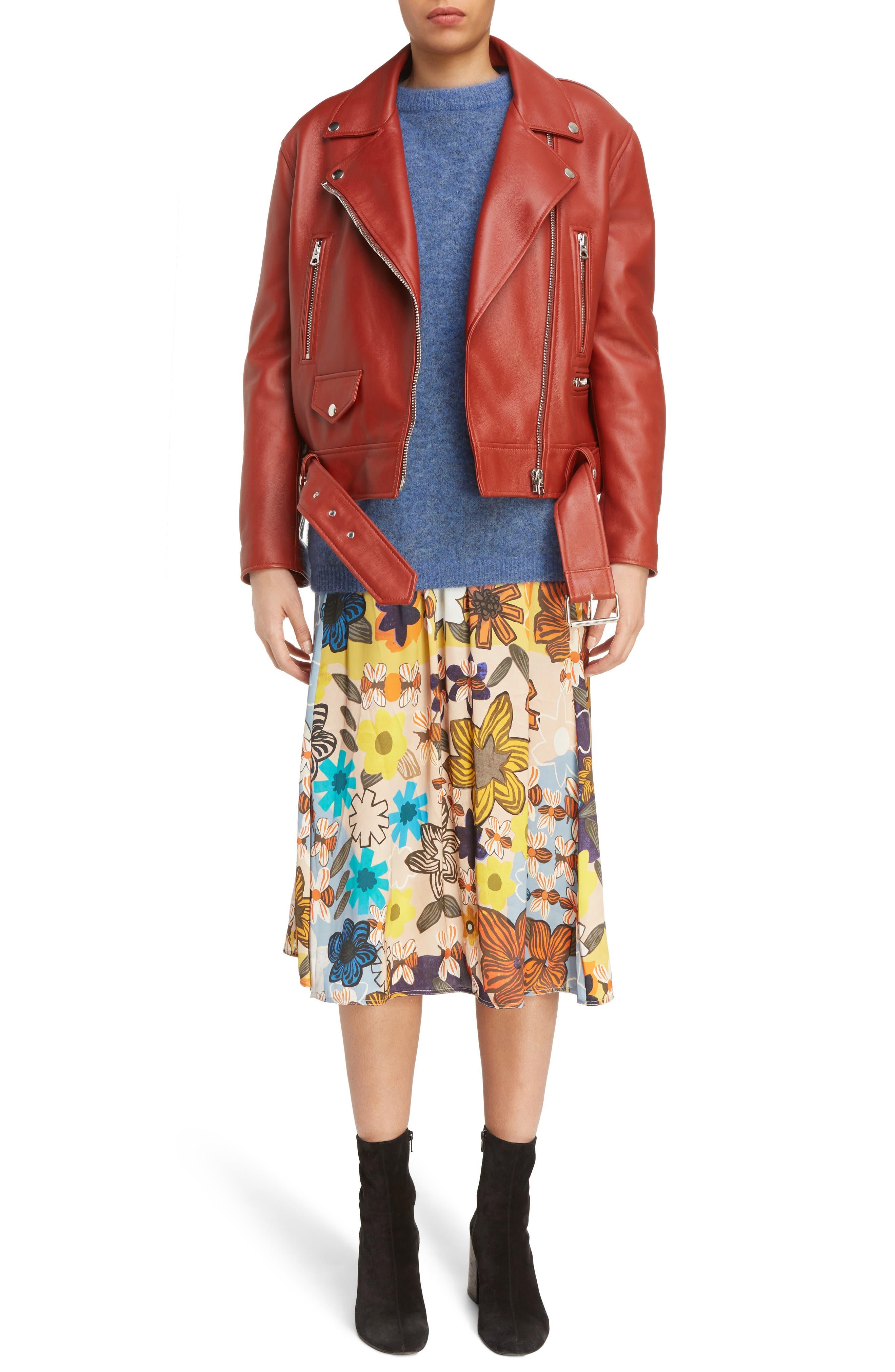 ACNE Studios Merlyn Leather Moto Jacket