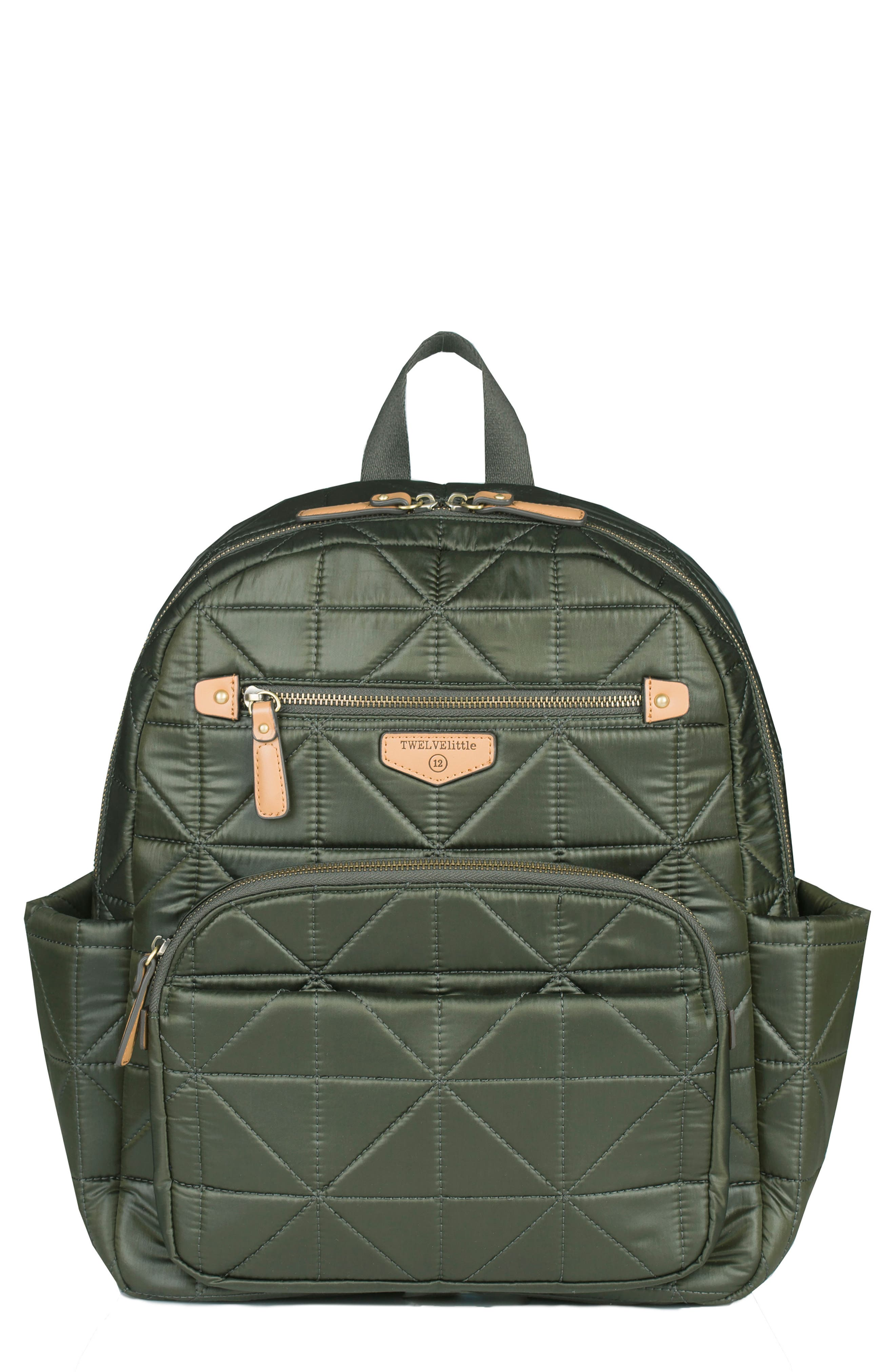 TWELVElittle 'Companion Backpack' Quilted Nylon Diaper Bag