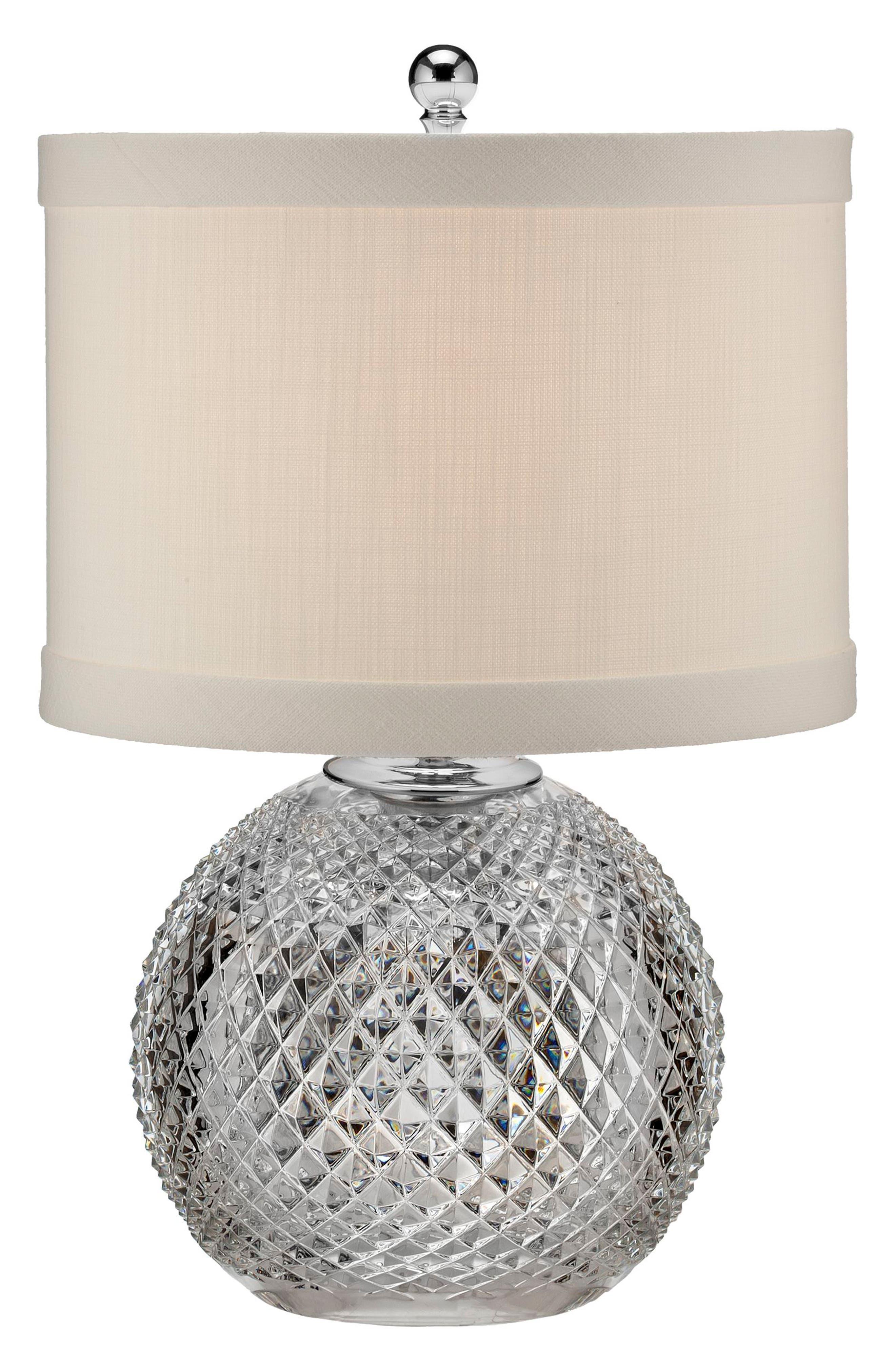 Main Image - Waterford Alana Crystal & Chrome Table Lamp