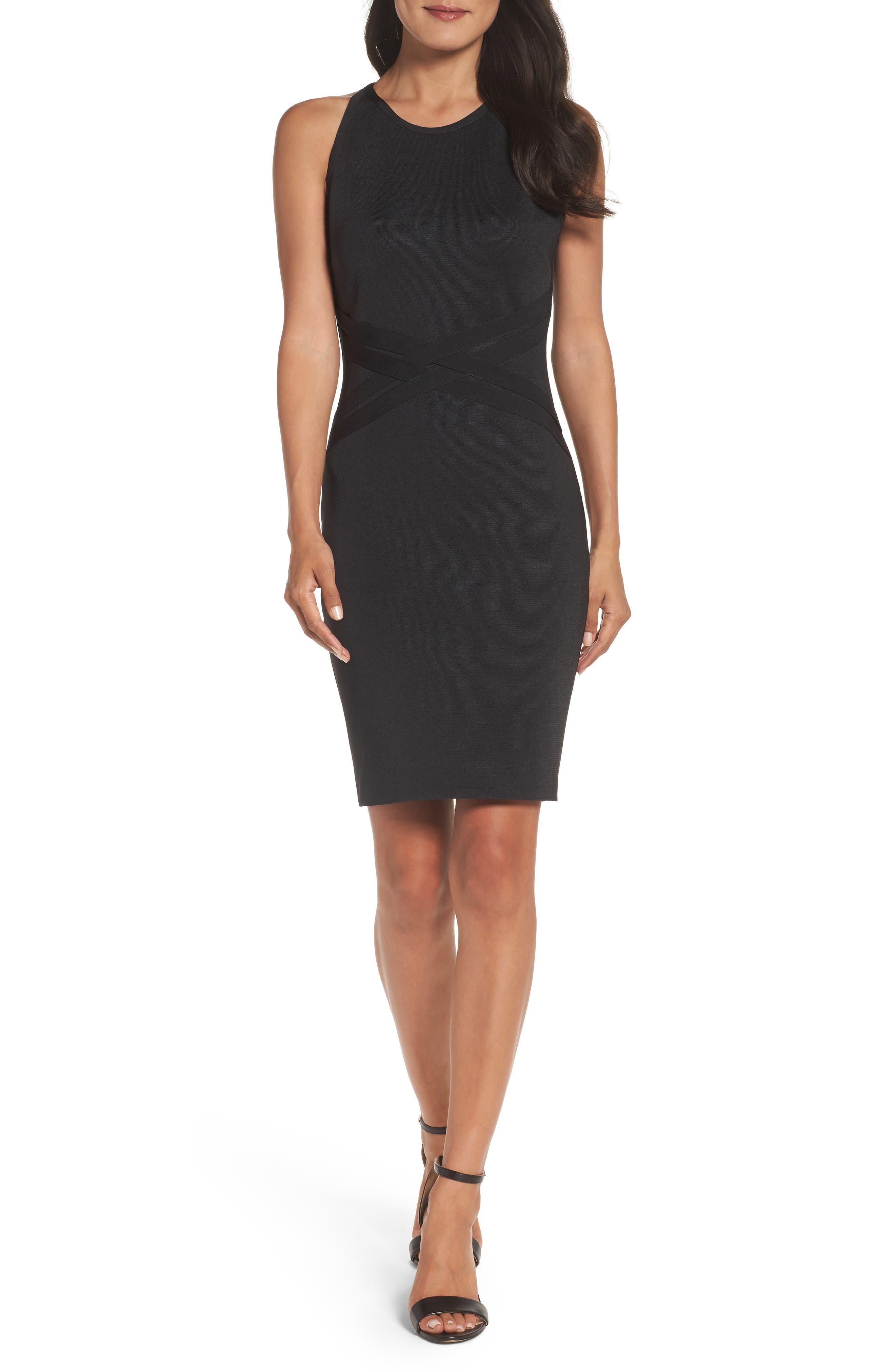 Bandage Dress,                             Main thumbnail 1, color,                             Black
